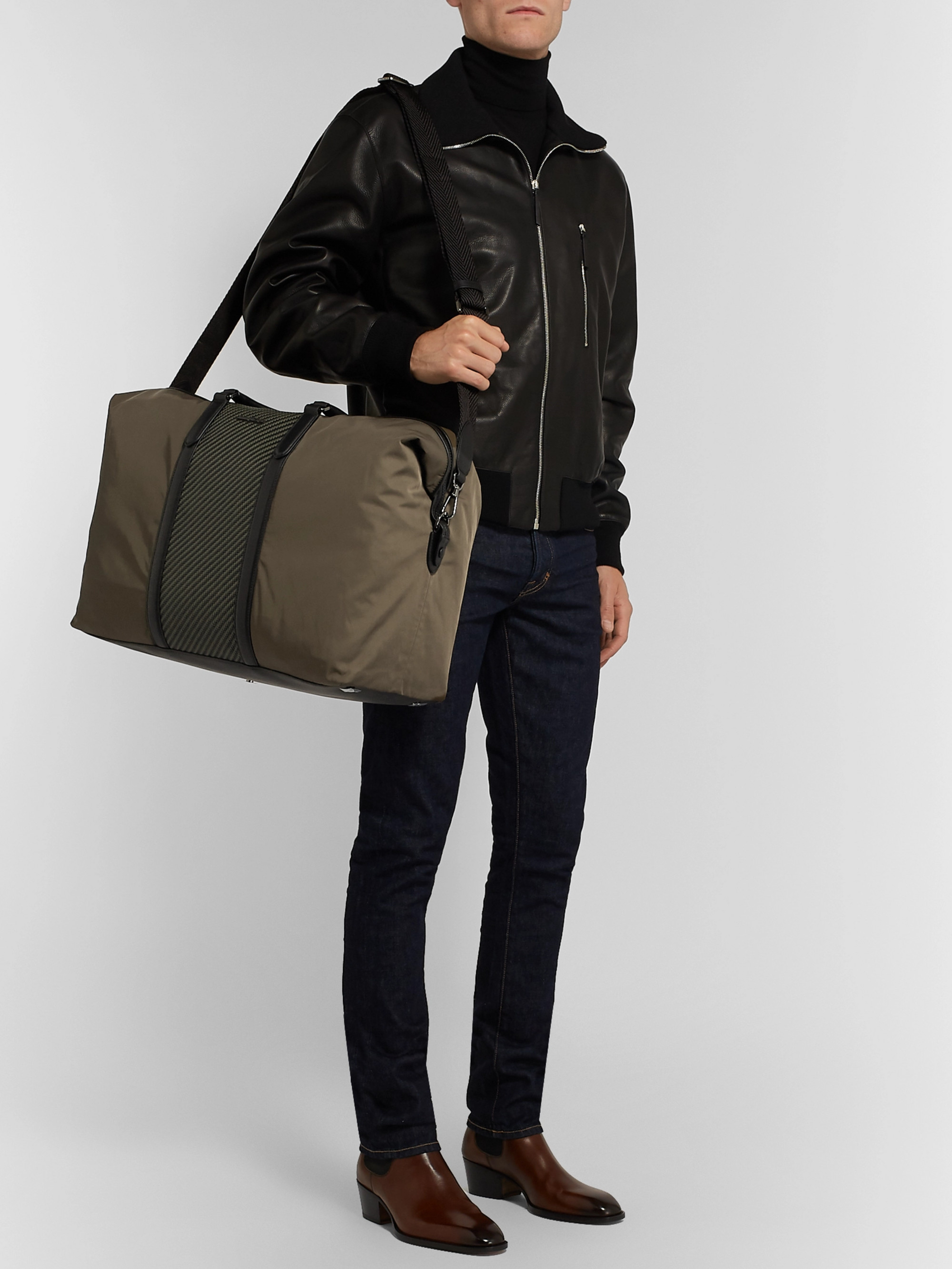 c2f858044 Shell And Pelle Tessuta Leather Holdall