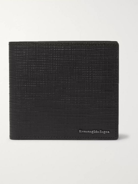 Ermenegildo Zegna Textured-Leather Billfold Wallet