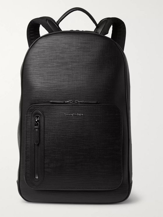 Ermenegildo Zegna Stuoia Leather Backpack