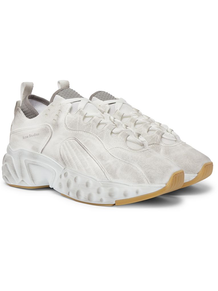 Acne Studios Rockaway Distressed Suede Sneakers