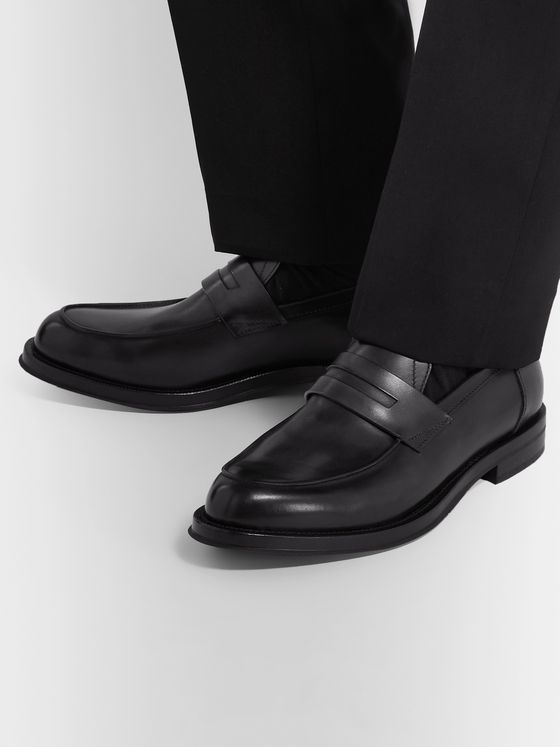 Berluti Leather Penny Loafers