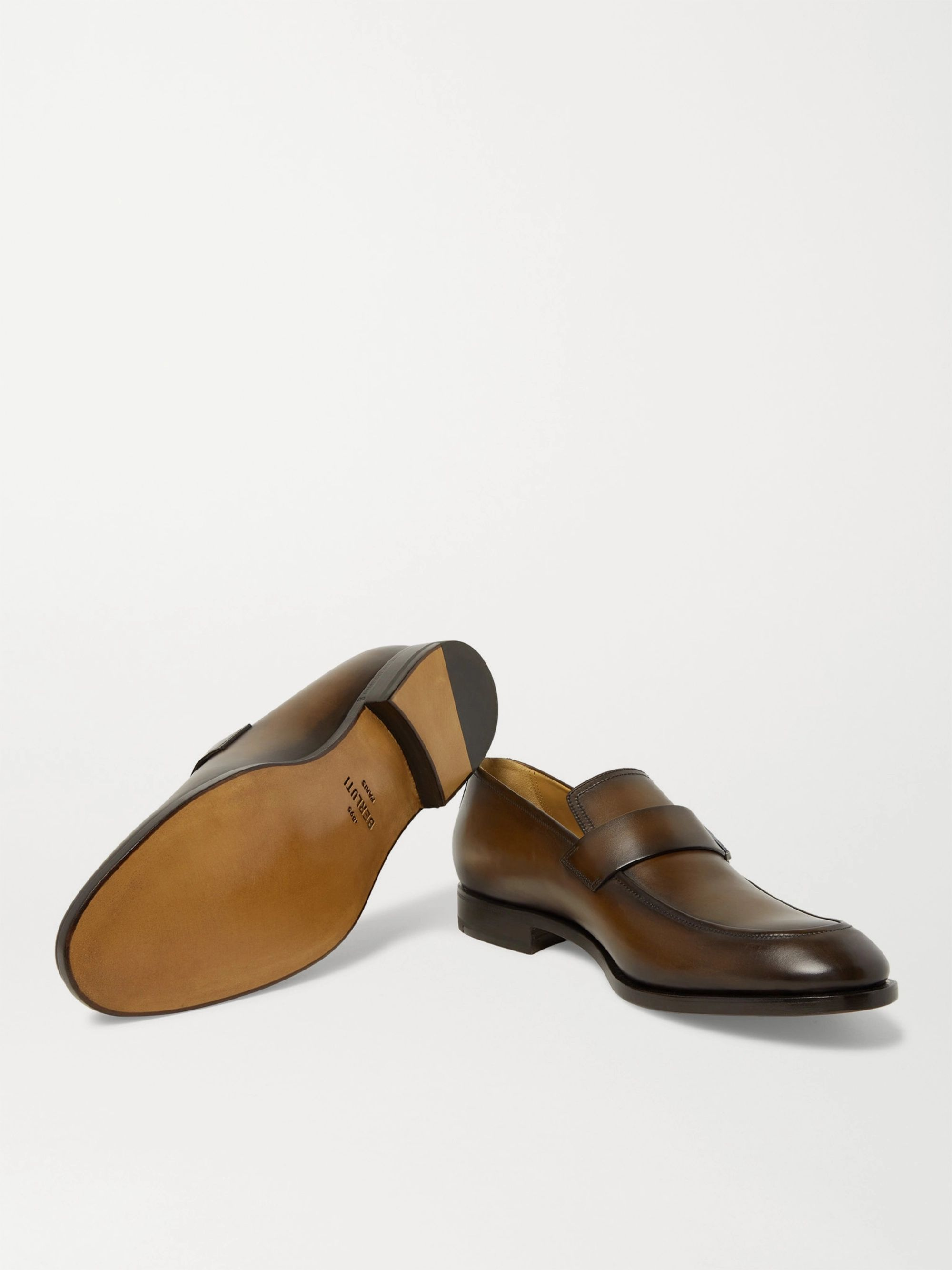 Berluti Reflet Leather Loafers