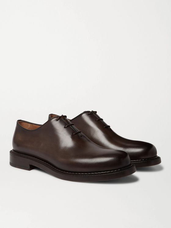 BERLUTI 1895 Venezia Leather Oxford Shoes
