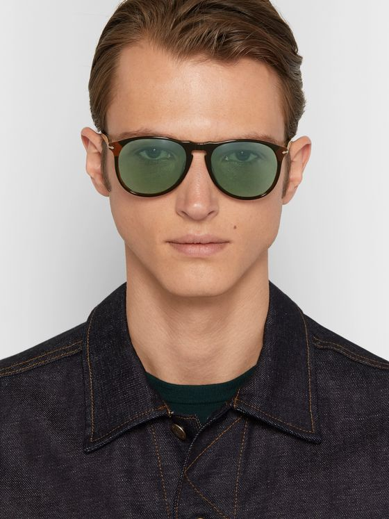 Persol D-Frame Acetate Polarised Sunglasses