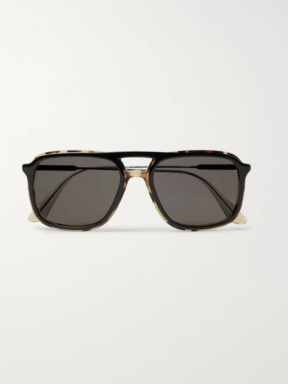 Prada Aviator-Style Tortoiseshell Acetate and Gunmetal-Tone Sunglasses