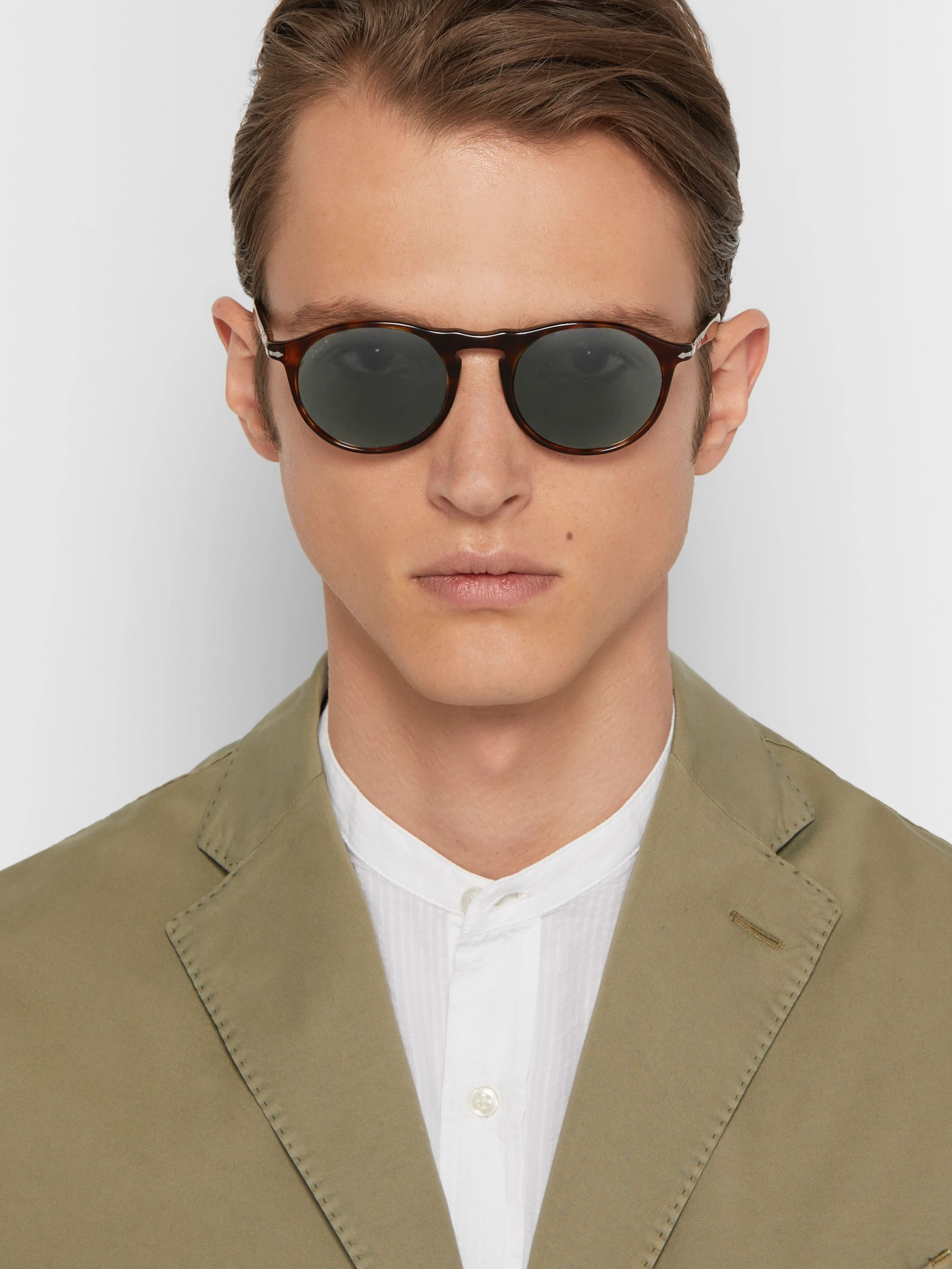 Sunglasses Round Acetate Tortoiseshell Polarised Frame c3ARqLSj45