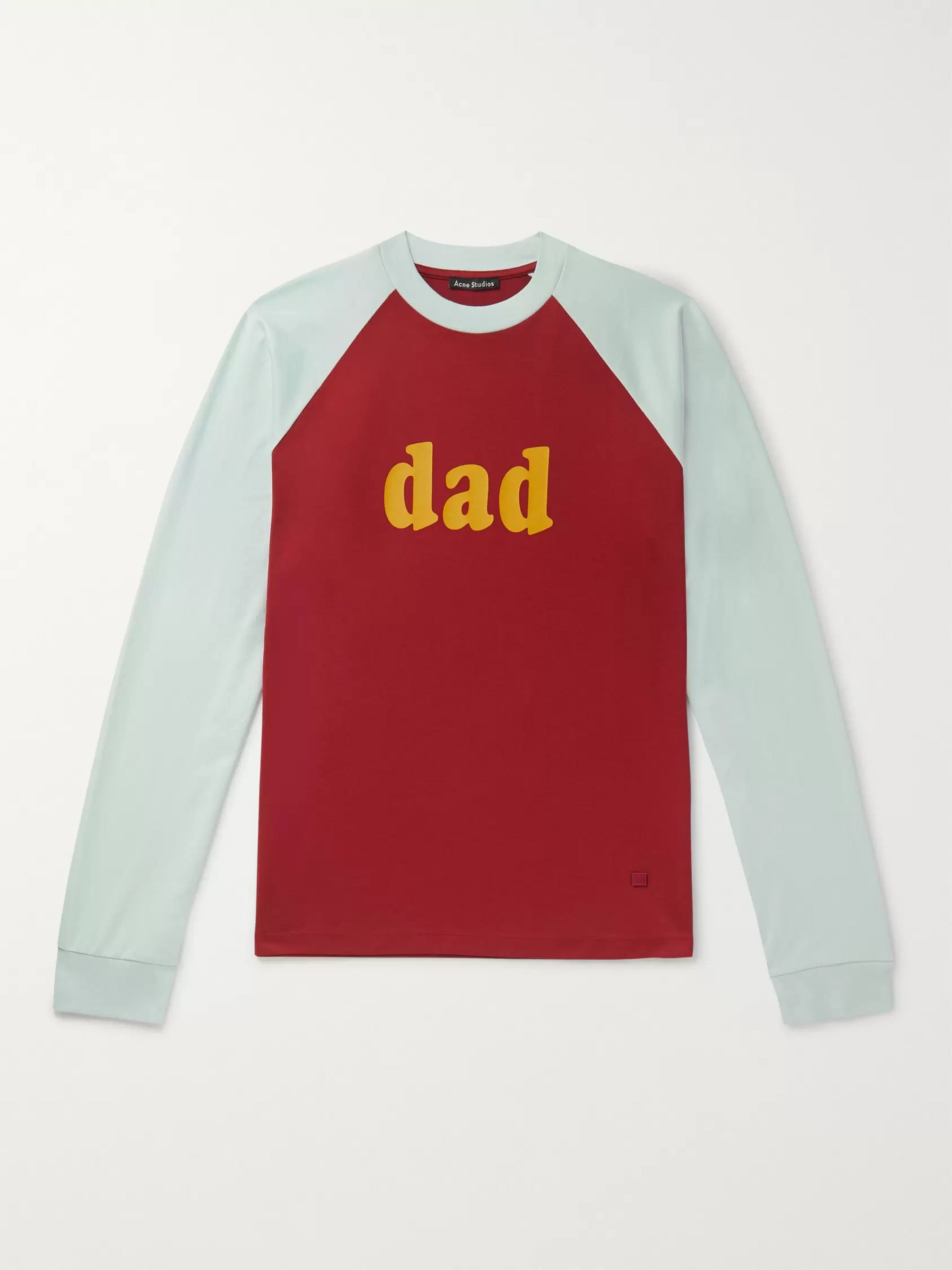 Acne Studios Printed Colour-Block Cotton-Jersey T-Shirt
