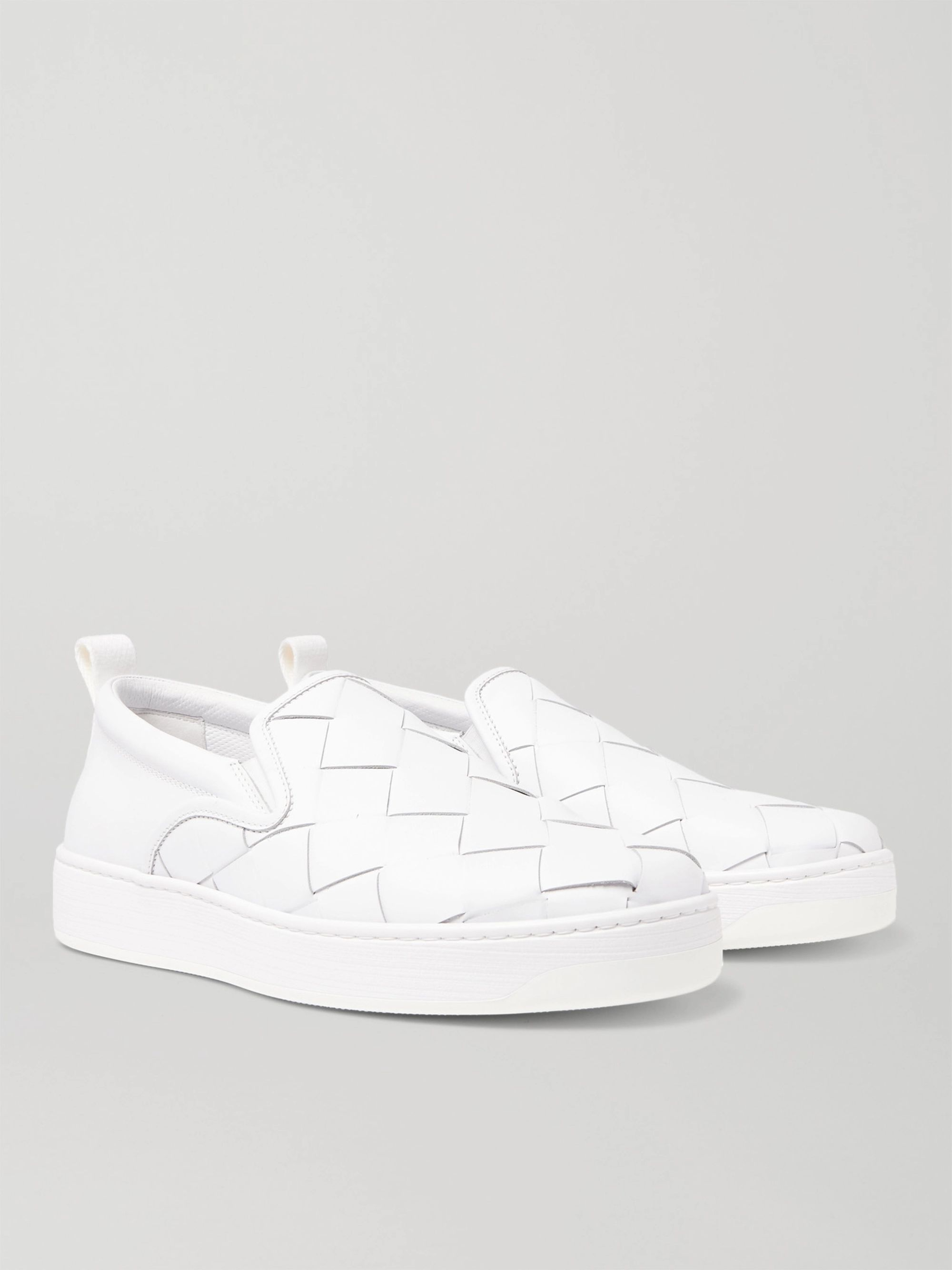On Dodger Slip Intrecciato Leather Sneakers reWQdCxoEB