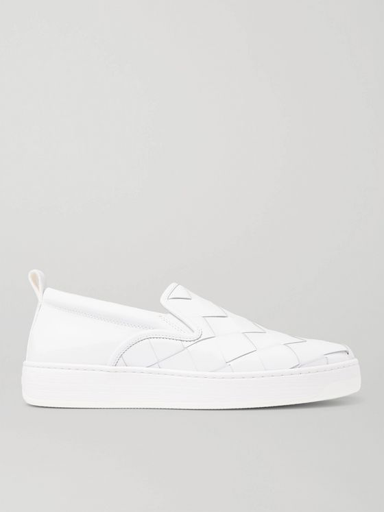 Bottega Veneta Dodger Intrecciato Leather Slip-On Sneakers