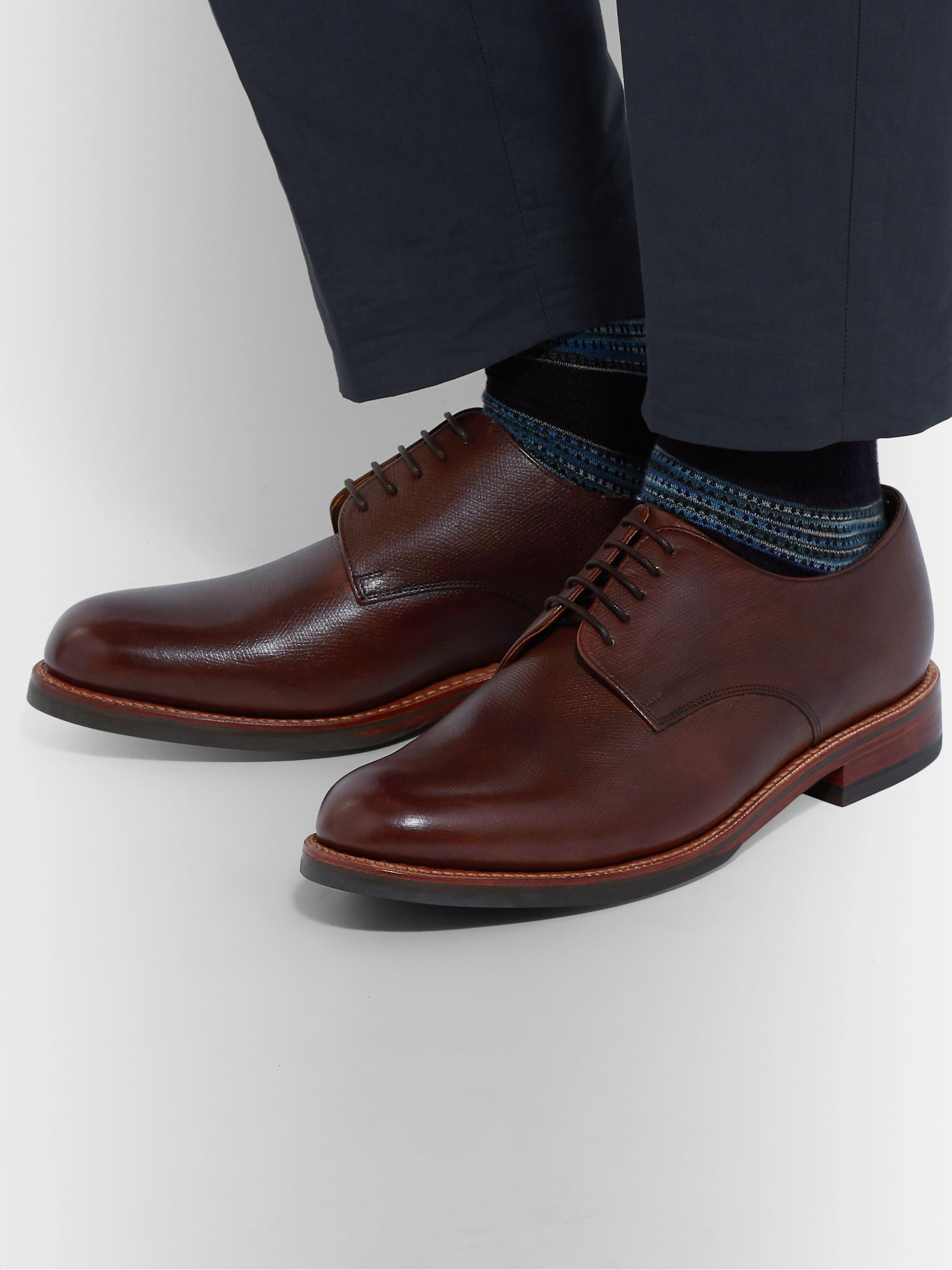 3d2c9d8e5f2 Curt Hand-Painted Full-Grain Leather Derby Shoes