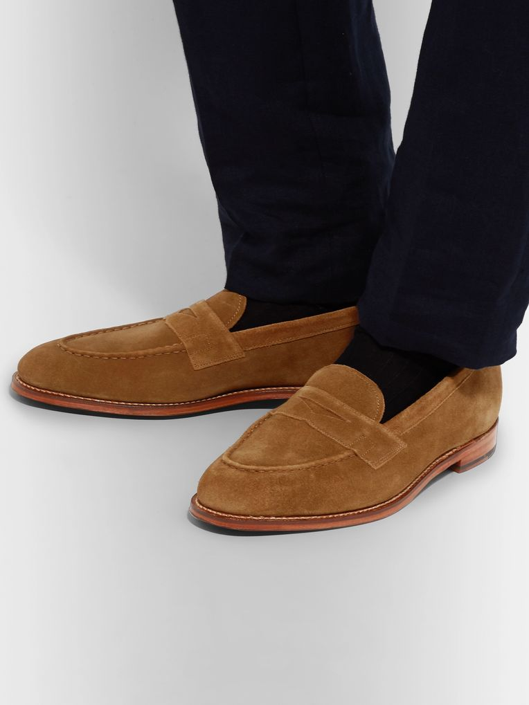 Grenson Suede Penny Loafers