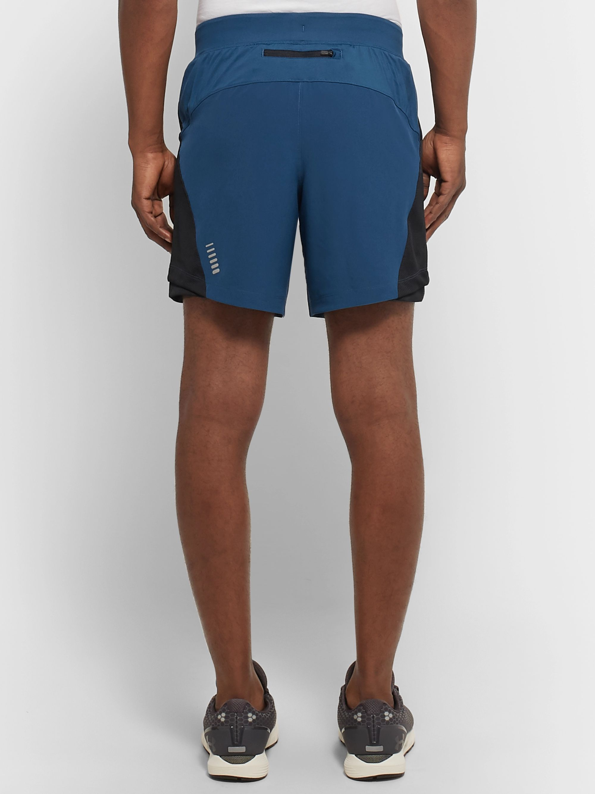 Under Armour UA Qualifier Speedpocket Mesh-Panelled Running Shorts