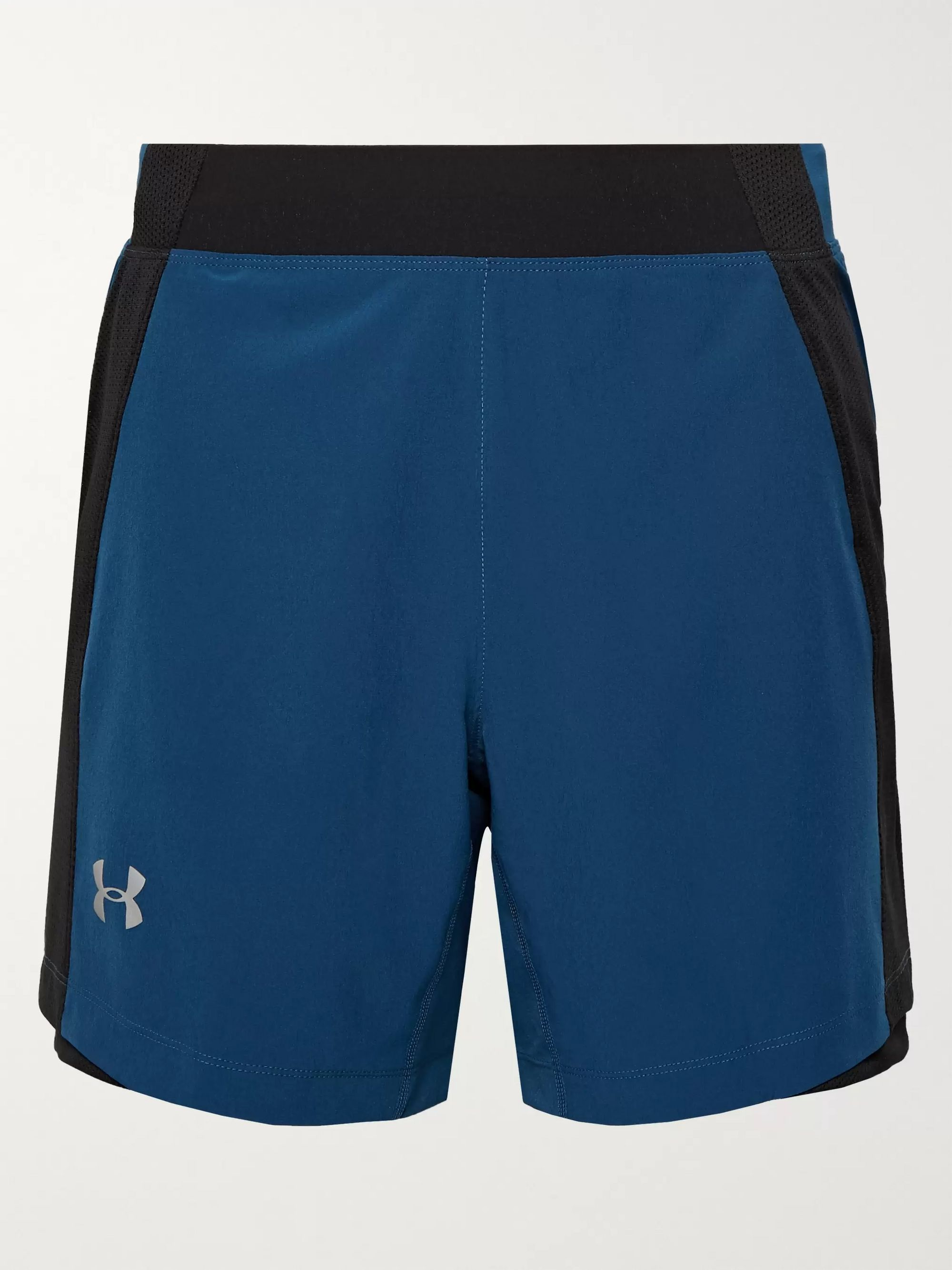 Under Armour UA Qualifier Speedpocket Mesh-Panelled HeatGear Running Shorts