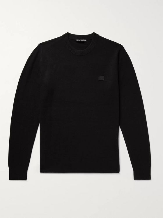 Acne Studios Nalon Logo-Appliquéd Wool Sweater