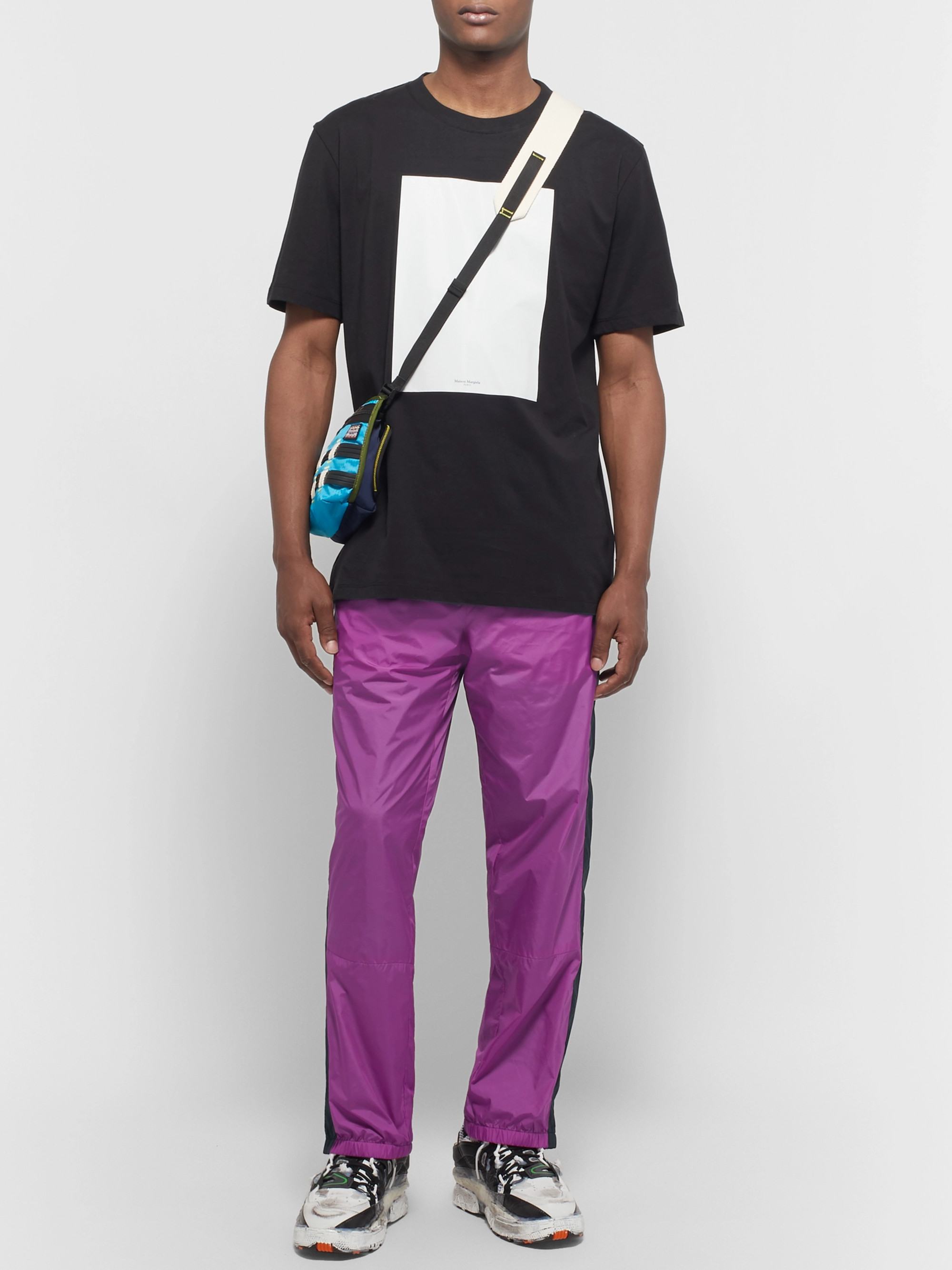 Acne Studios Tapered Logo-Appliquéd Striped Nylon Track Pants
