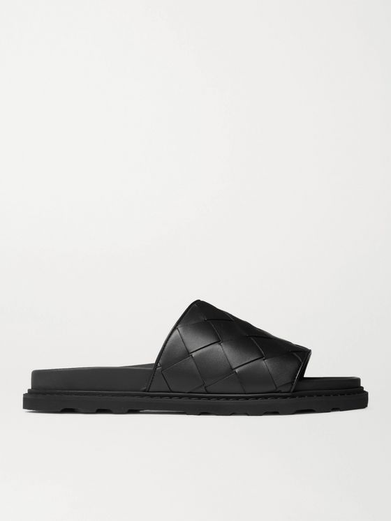 BOTTEGA VENETA Intrecciato Leather Slides