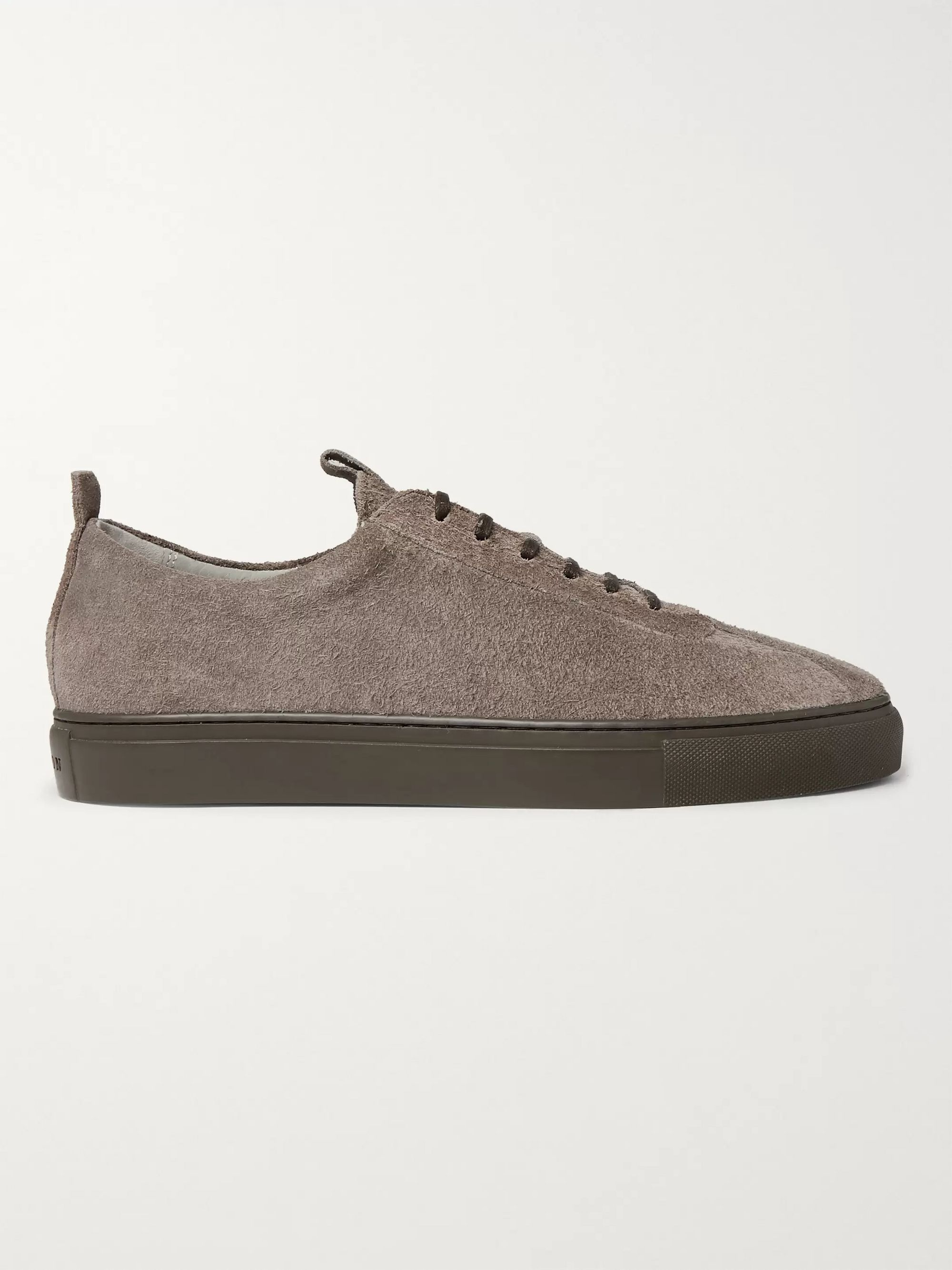 Grenson Textured-Suede Sneakers