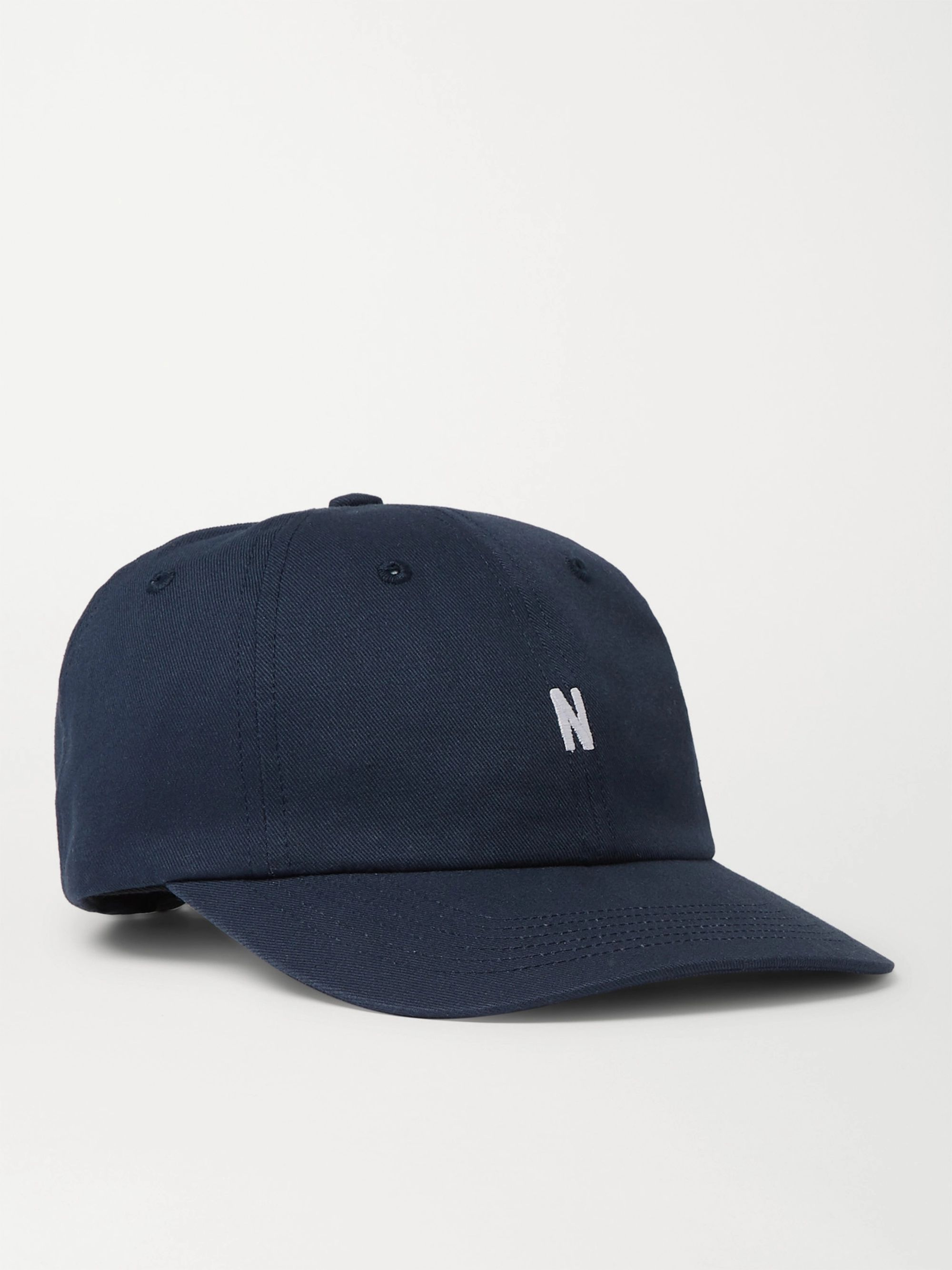 c0a231cd1 Navy Logo-Embroidered Cotton-Twill Baseball Cap | Norse Projects ...
