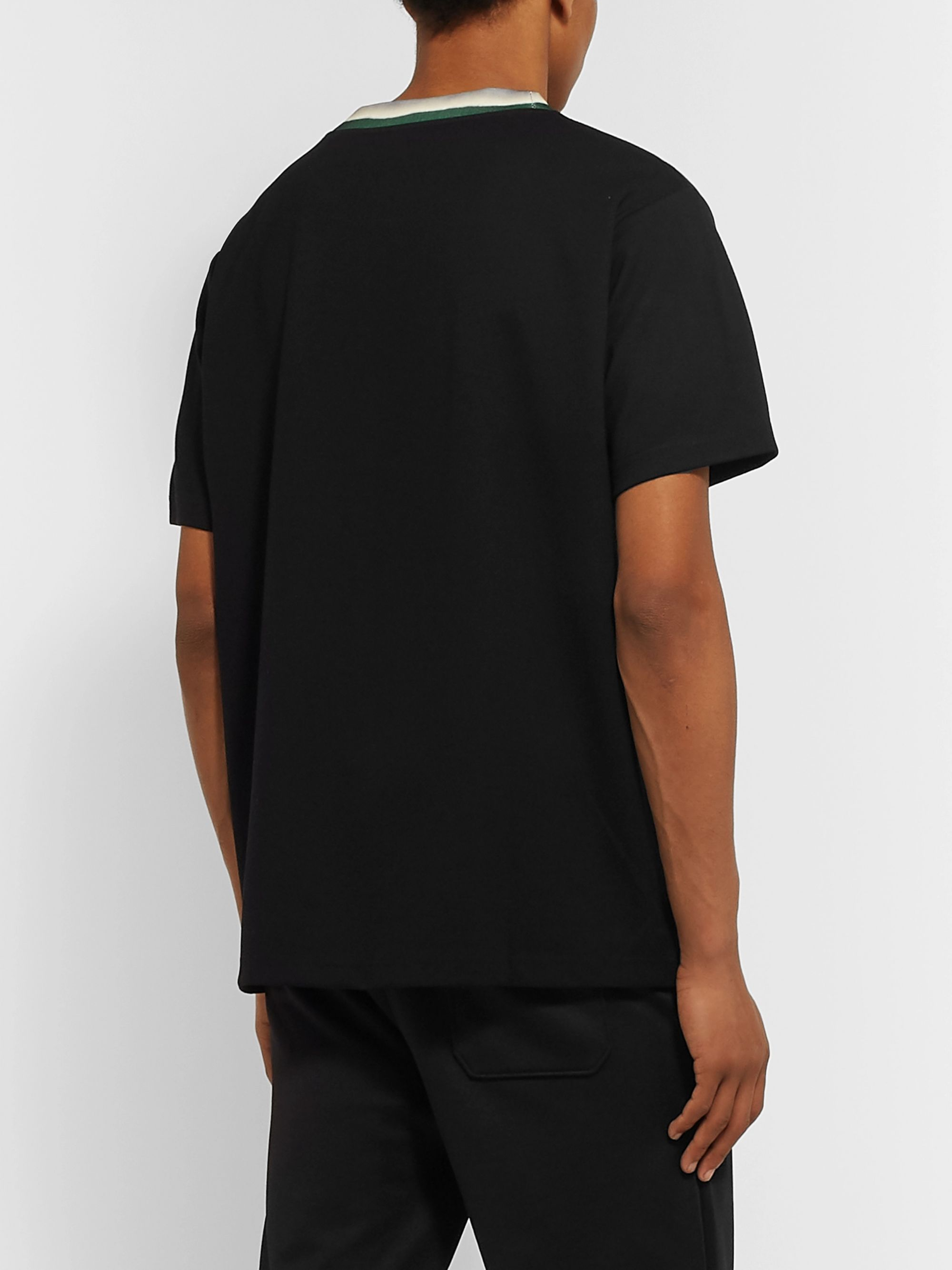 Acne Studios Nash Logo-Appliquéd Stretch-Jersey T-Shirt