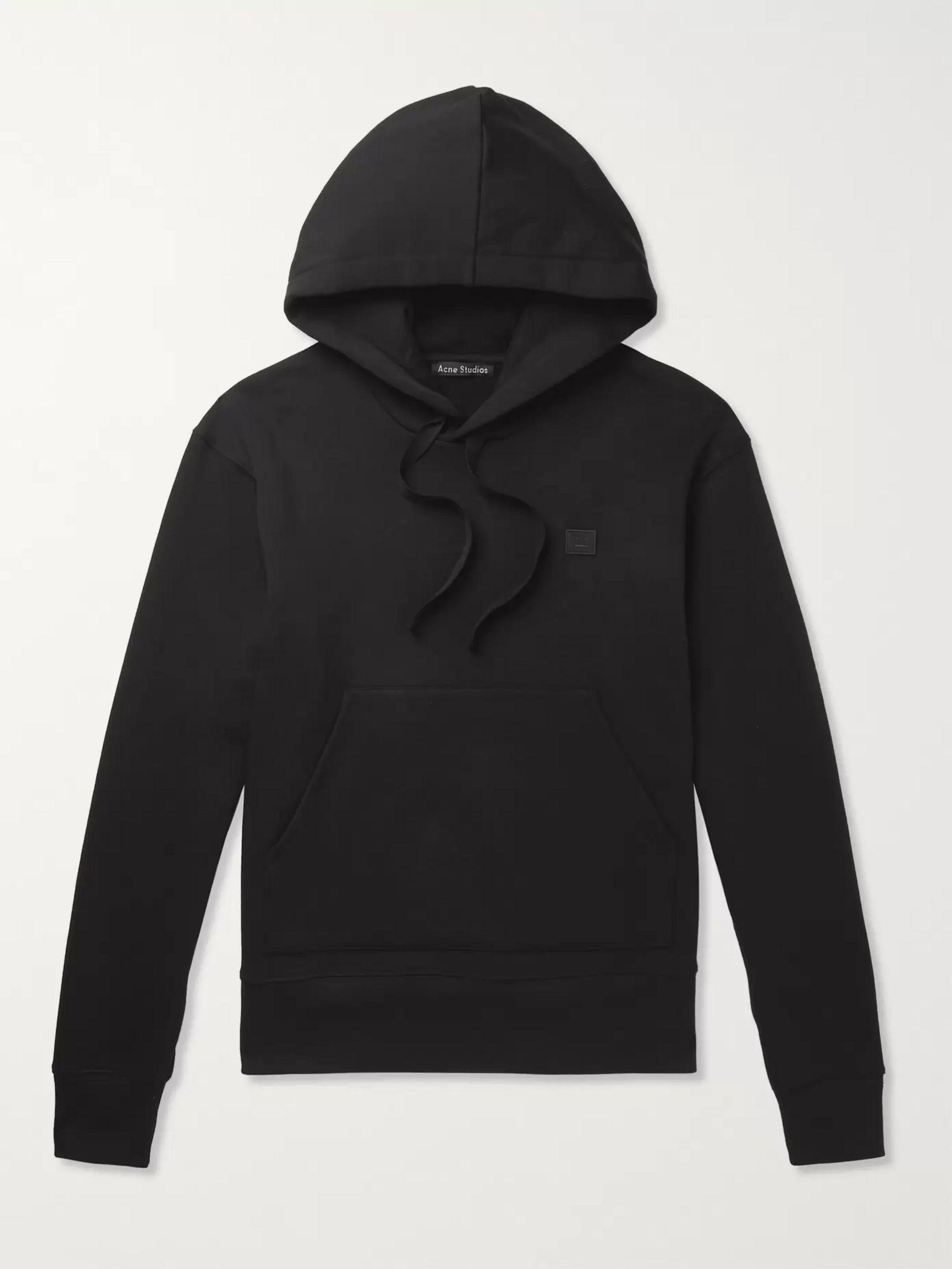 Ferris Face logo patch cotton hooded sweatshirt | Acne Studios