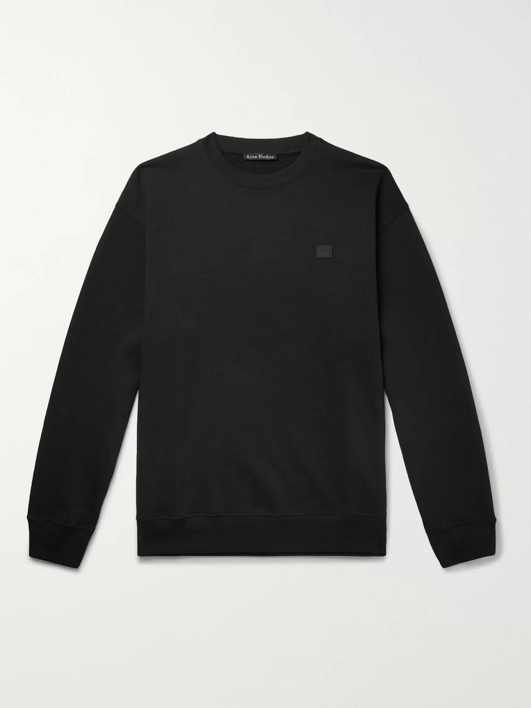 Acne Studios Forba Oversized Logo-Appliquéd Loopback Cotton-Jersey Sweatshirt