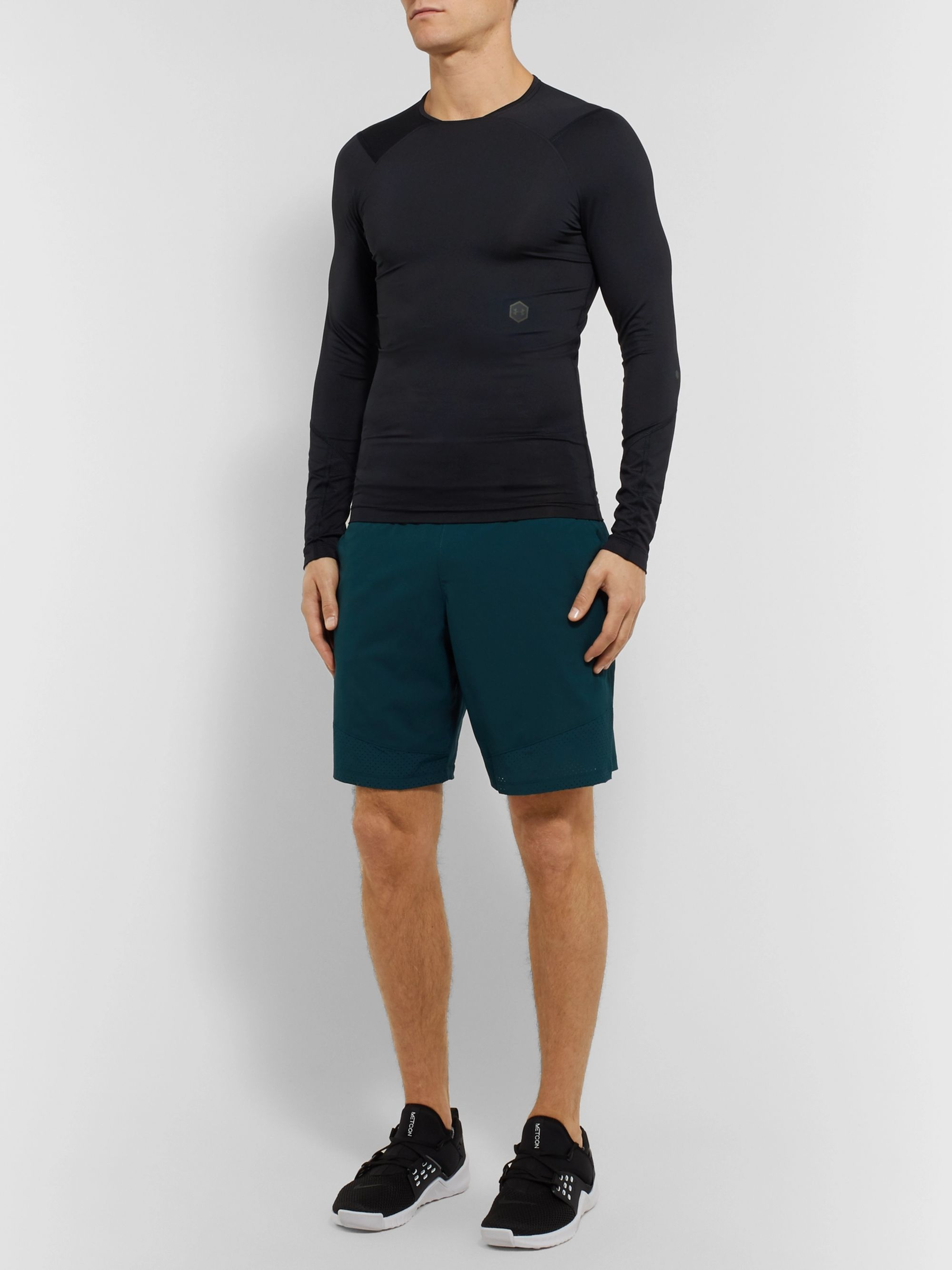 Under Armour UA Rush Compression Mesh-Panelled Stretch Tech-Jersey T-Shirt