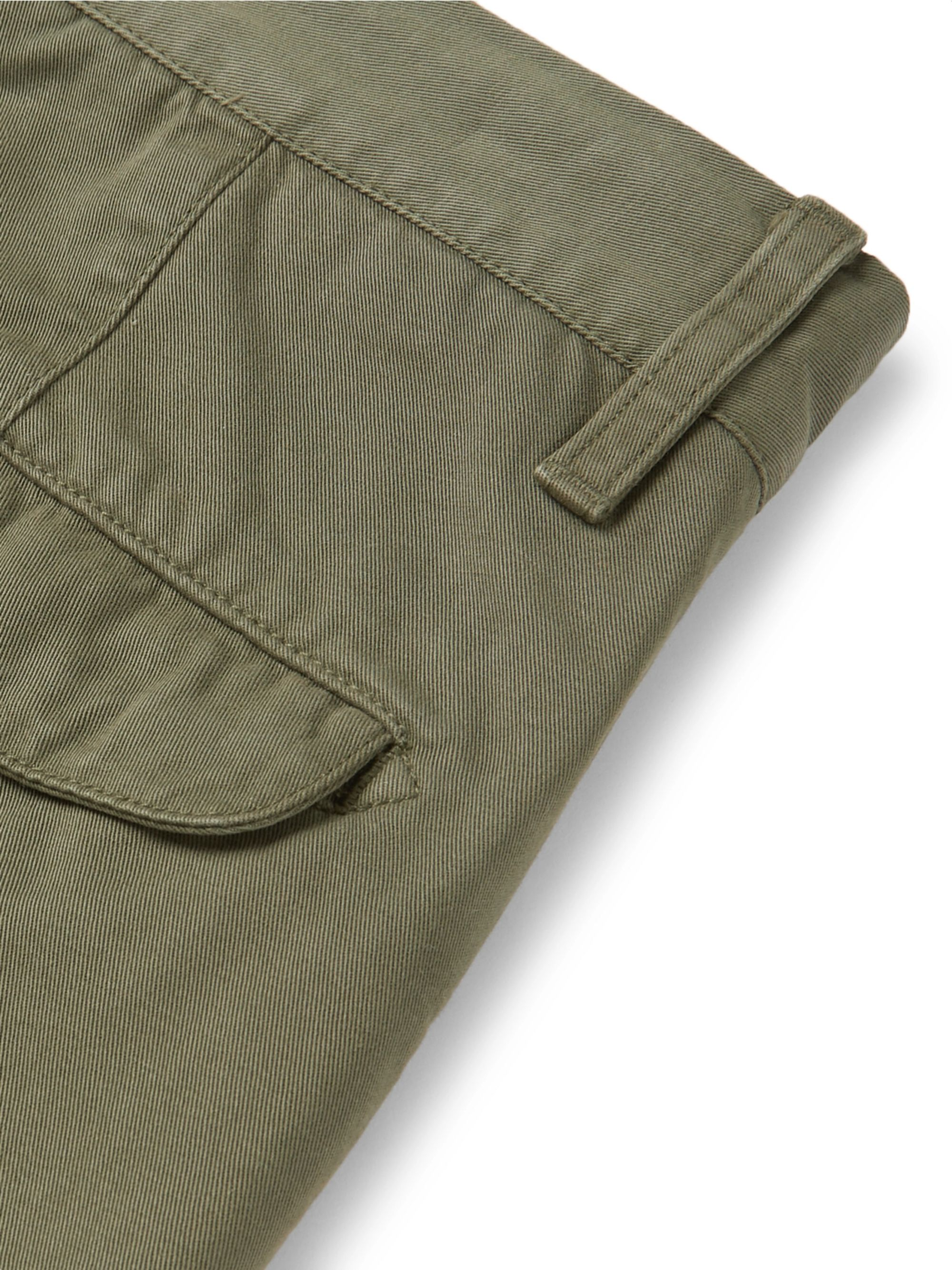 Mr P. Straight-Leg Garment-Dyed Cotton-Twill Chinos