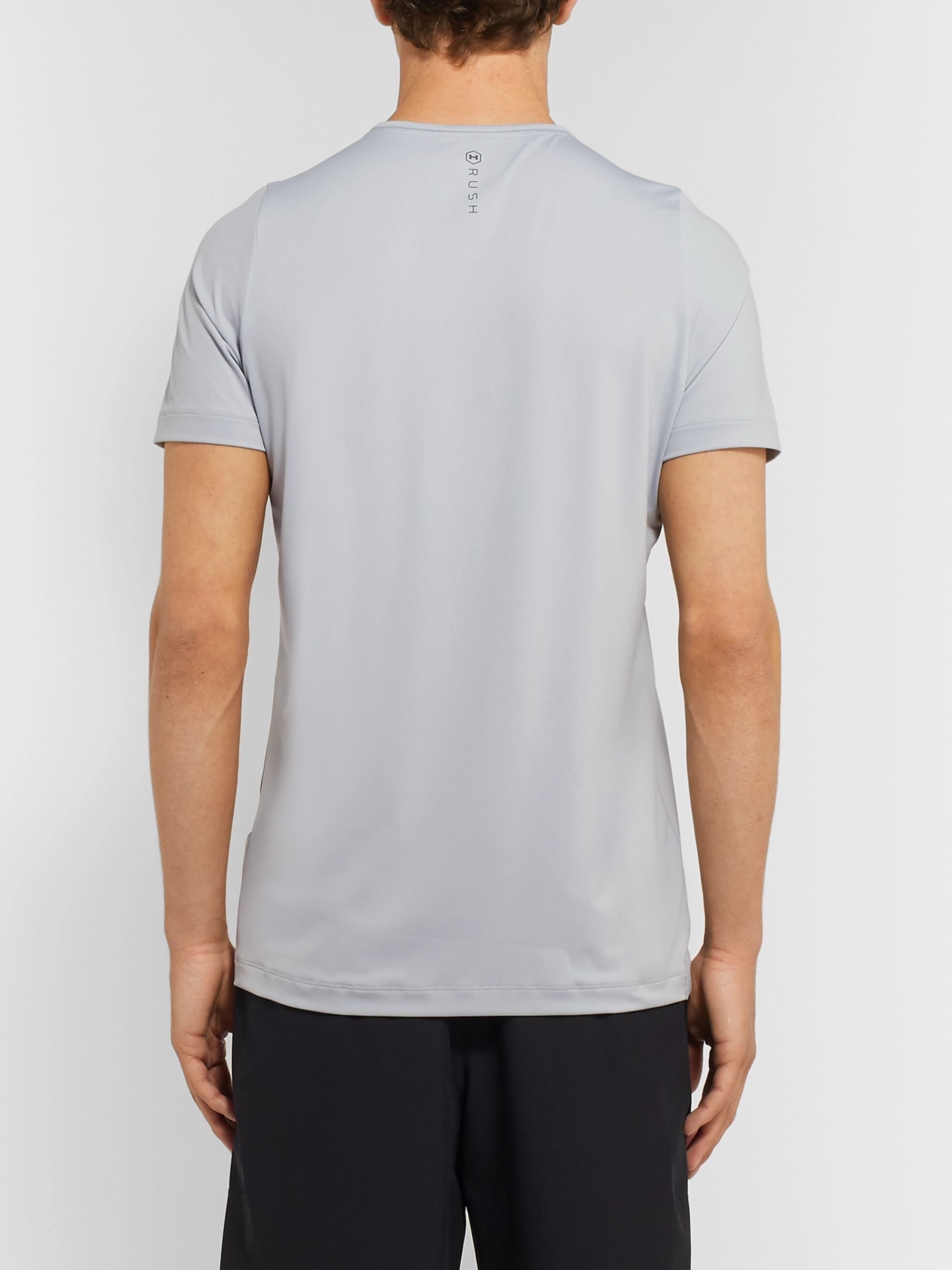 Under Armour UA Rush Mesh-Panelled Cellient Stretch Tech-Jersey T-Shirt