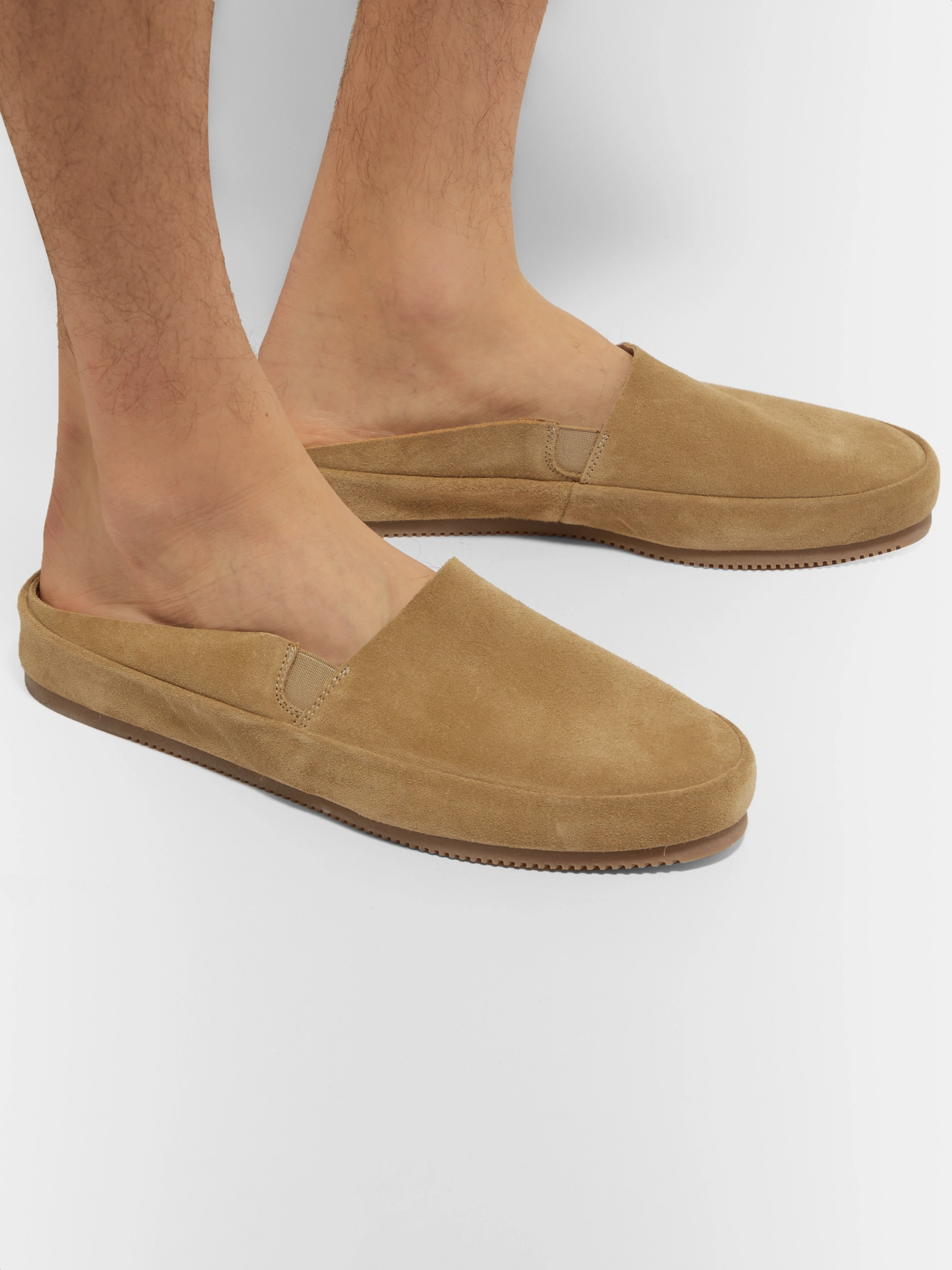 Mulo Suede Backless Loafers