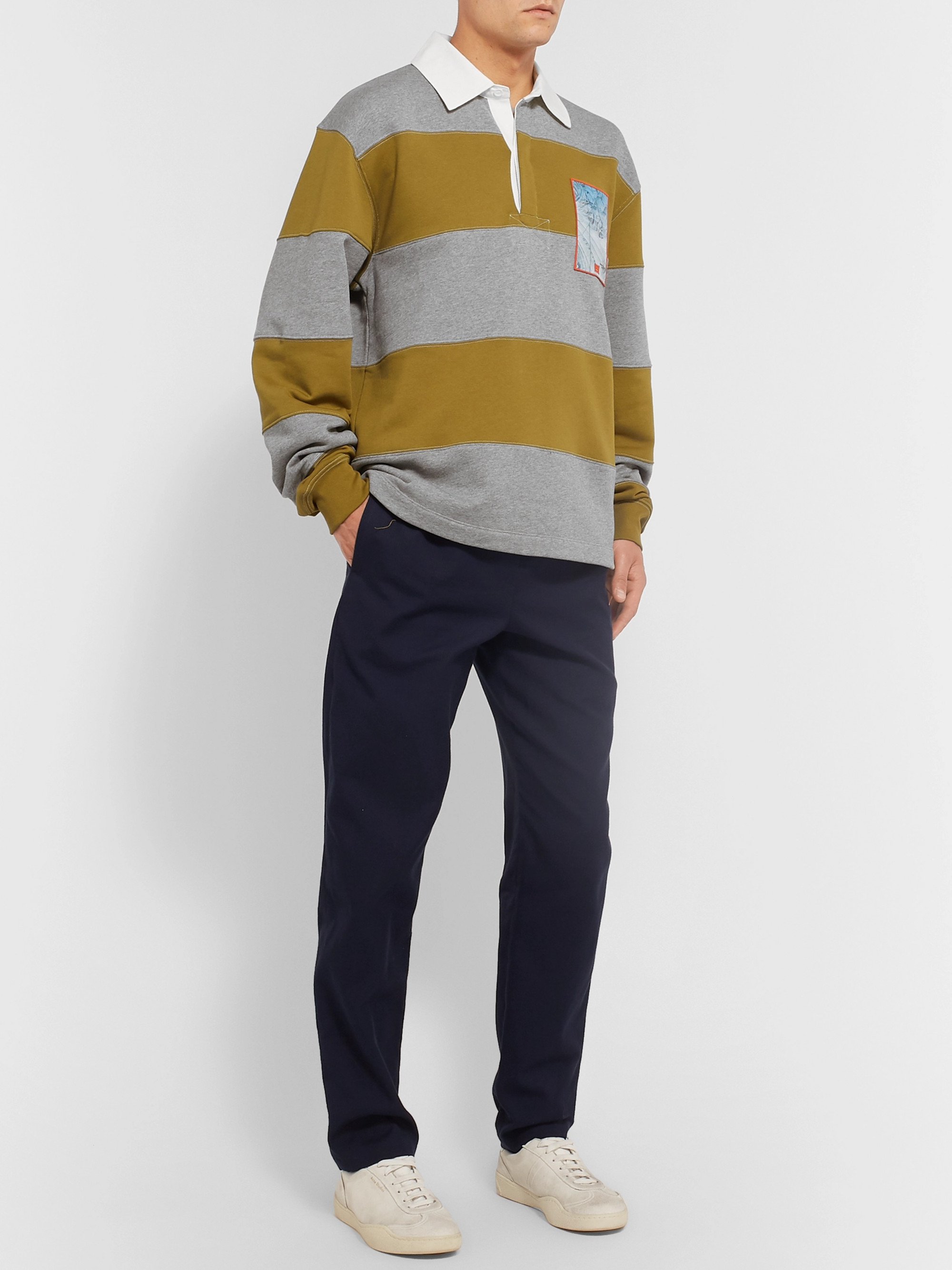 Acne Studios Oversized Striped Loopback Cotton-Jersey Rugby Shirt