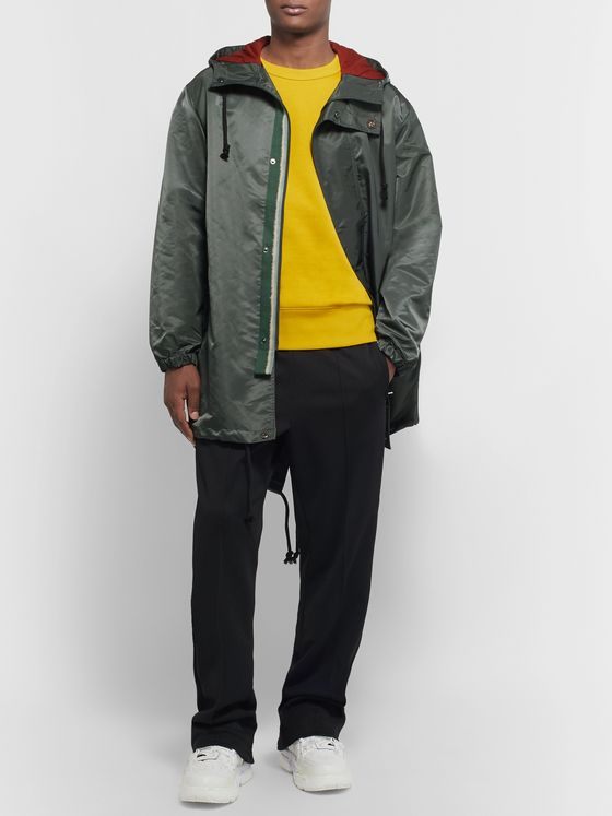 Acne Studios Logo-Appliquéd Nylon Hooded Parka