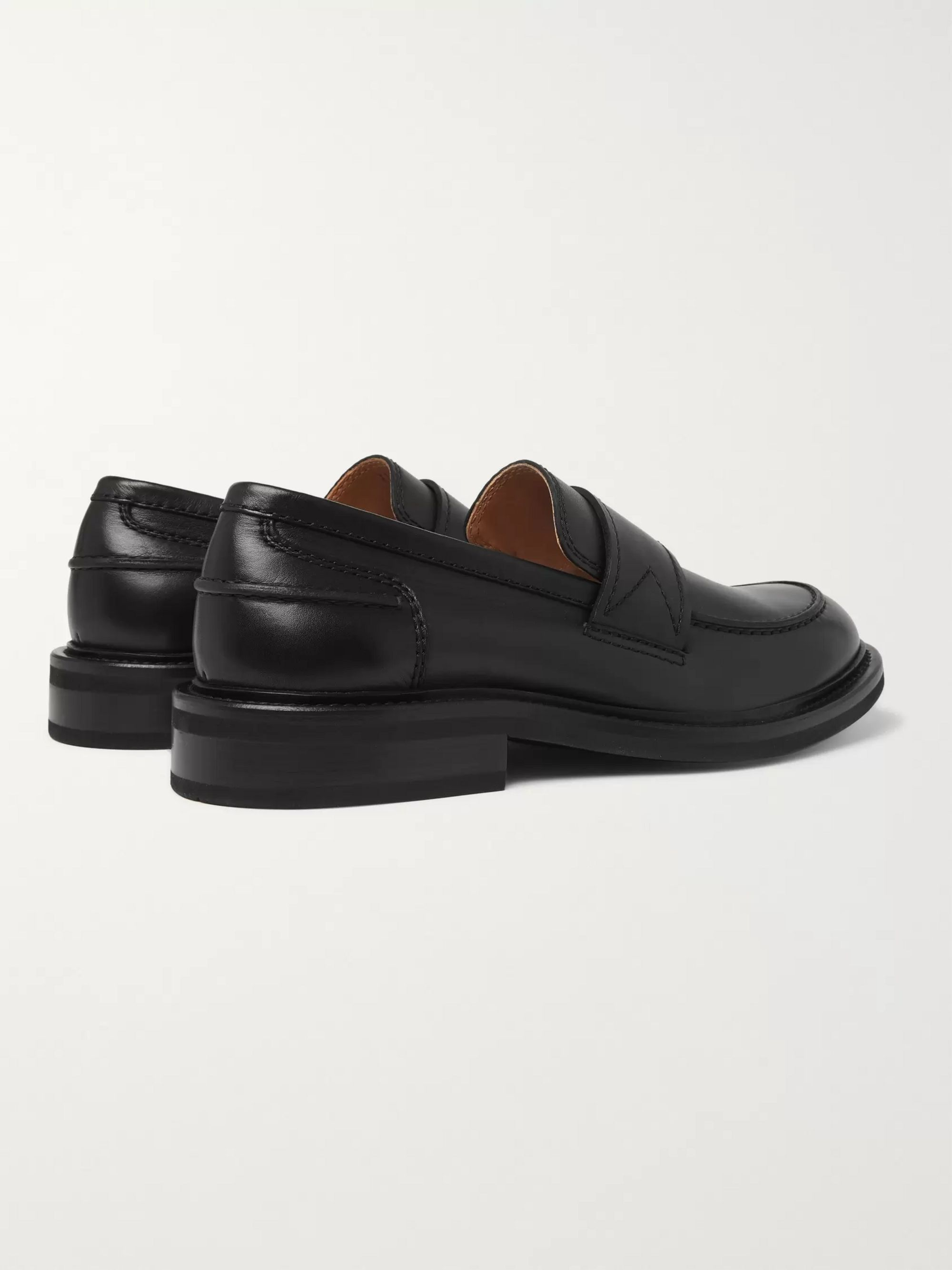 Bottega Veneta Leather Penny Loafers
