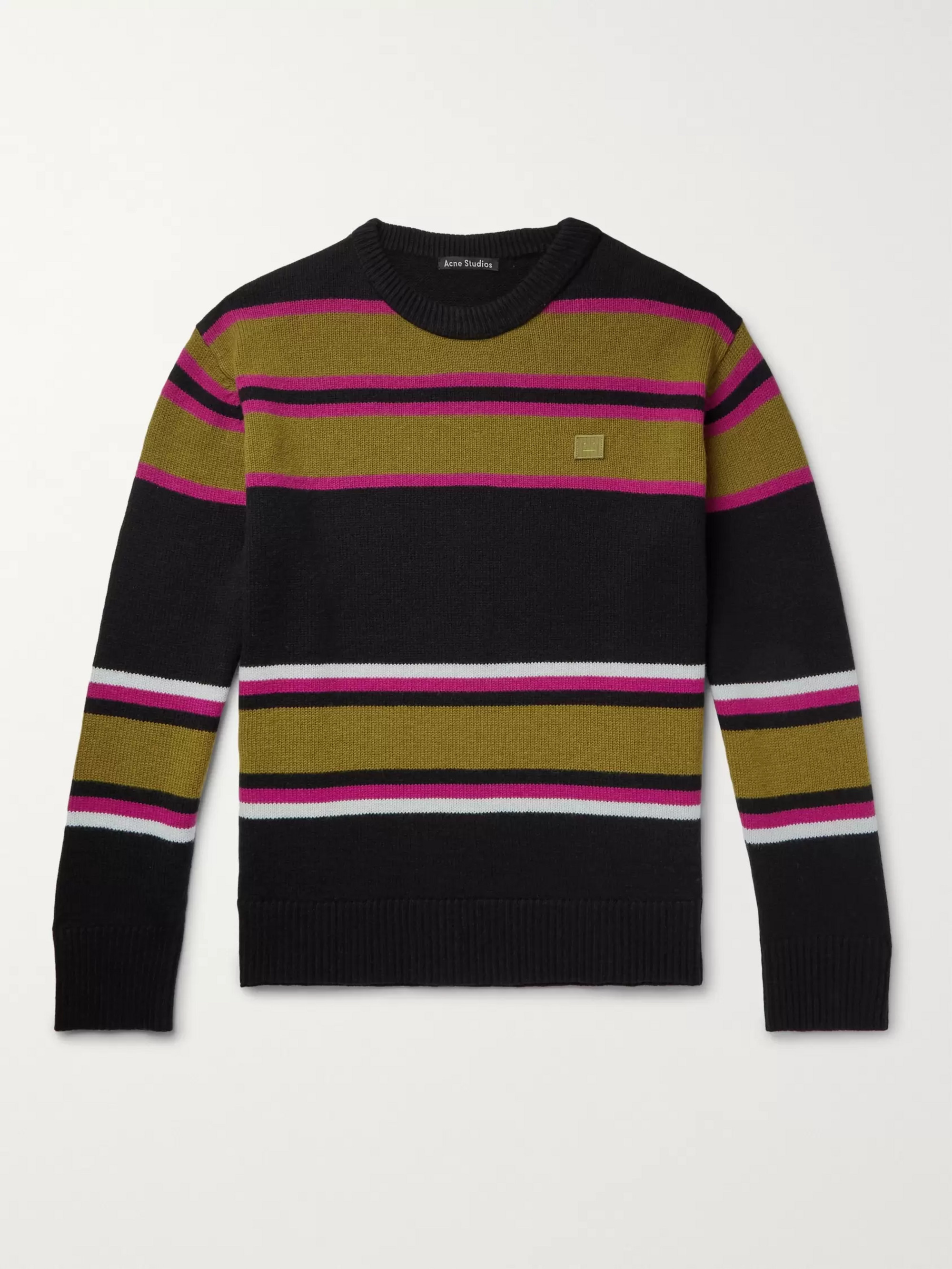 Acne Studios Nema Striped Wool Sweater