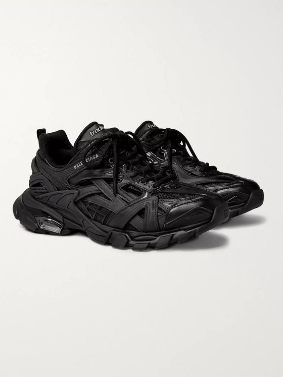 Balenciaga Track 2 Mesh, Nylon and Rubber Sneakers