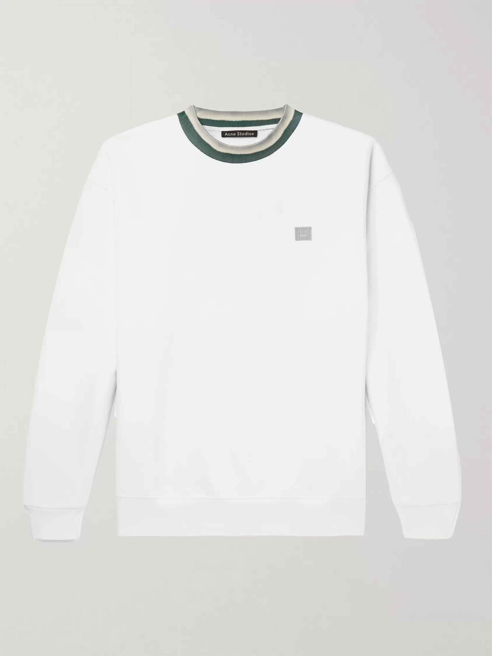 Acne Studios Contrast-Trimmed Fleece-Back Cotton-Jersey Sweatshirt