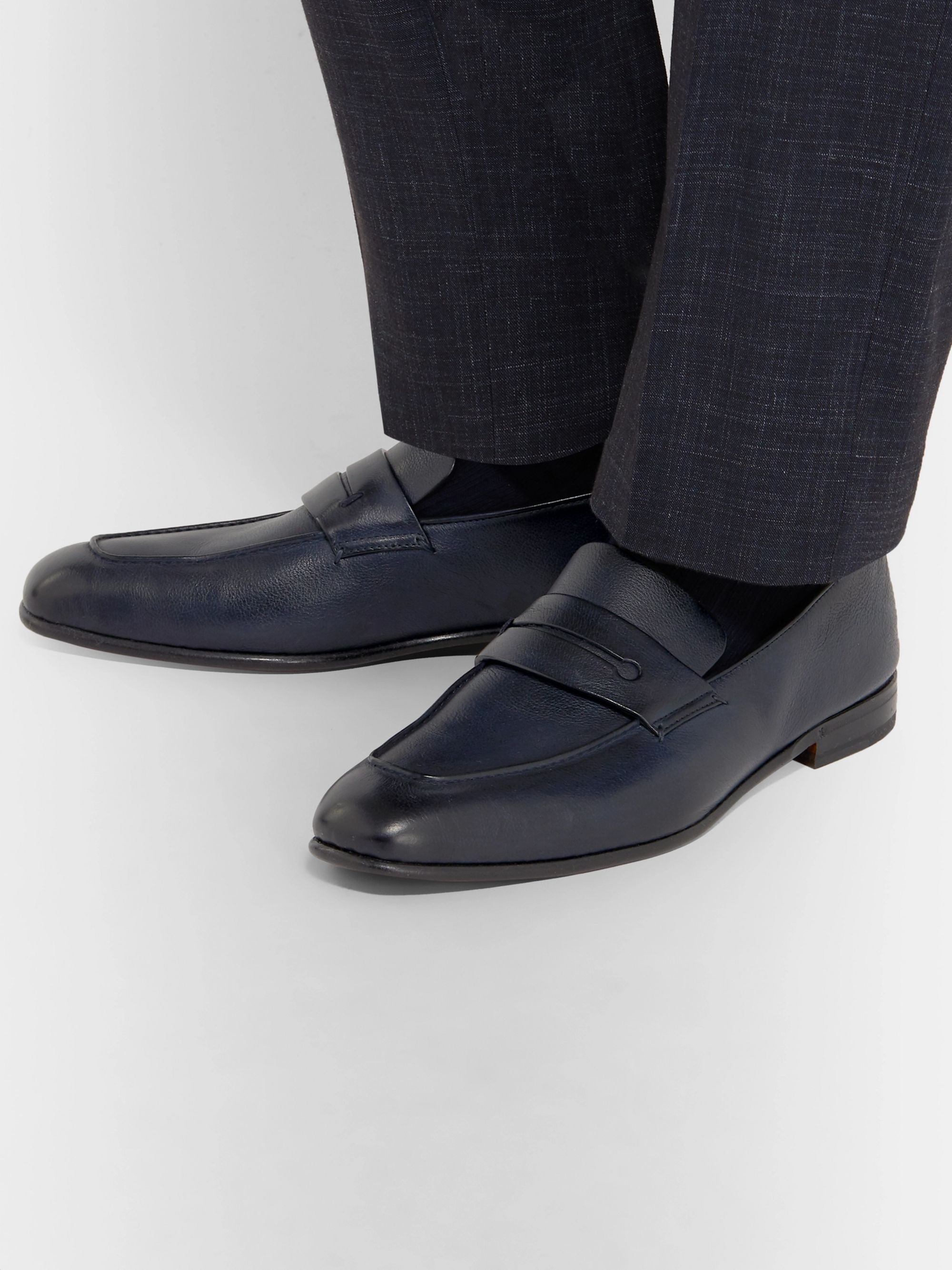 Ermenegildo Zegna Asola Leather Penny Loafers