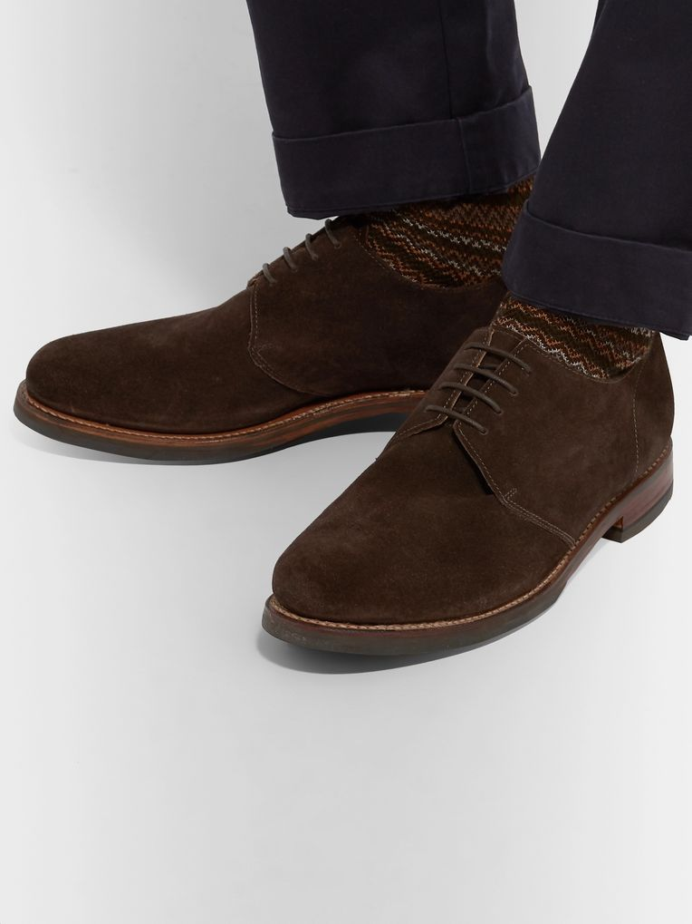 Grenson Wade Suede Derby Shoes