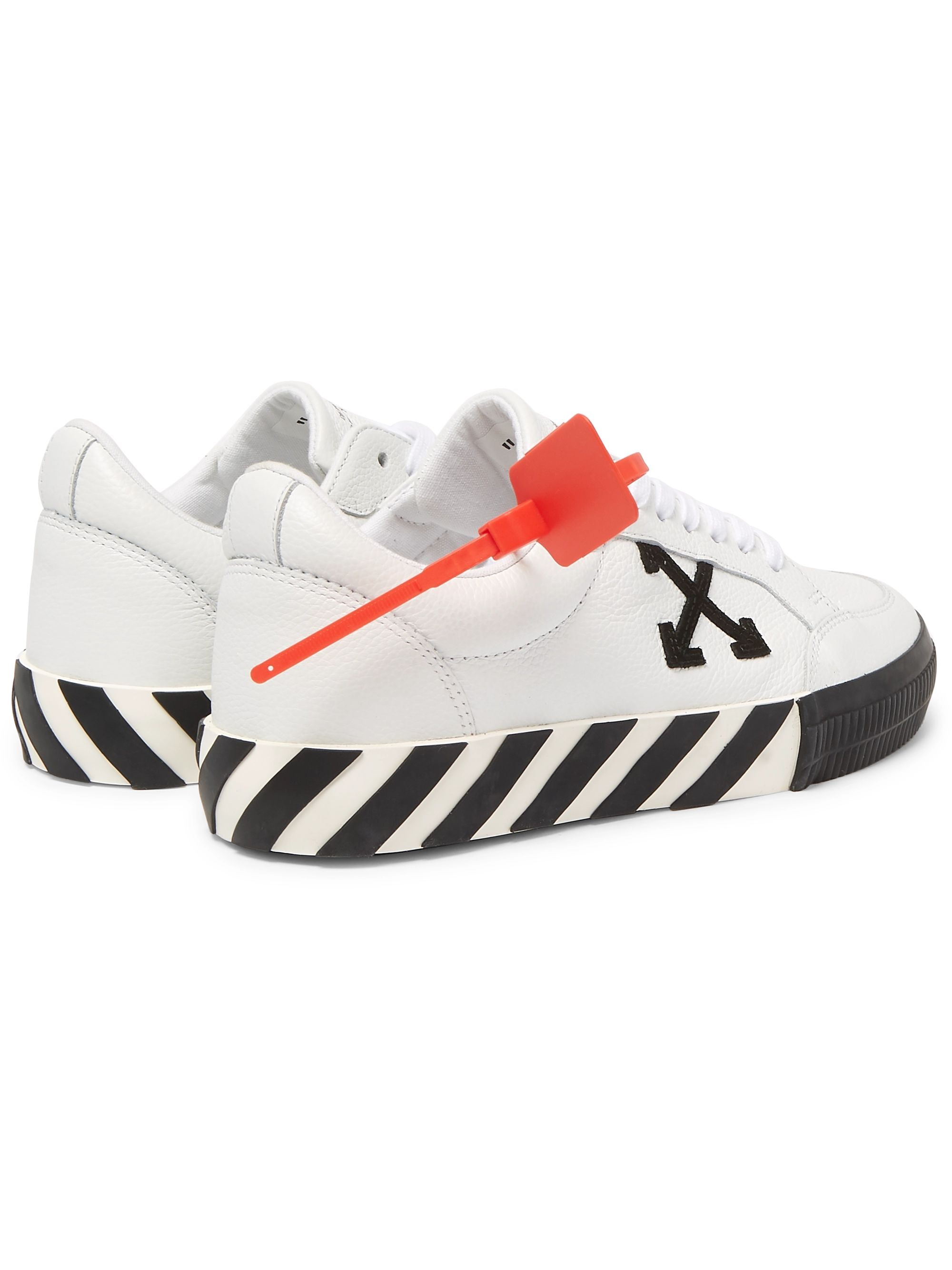 Off-White Logo-Appliquéd Full-Grain Leather Sneakers