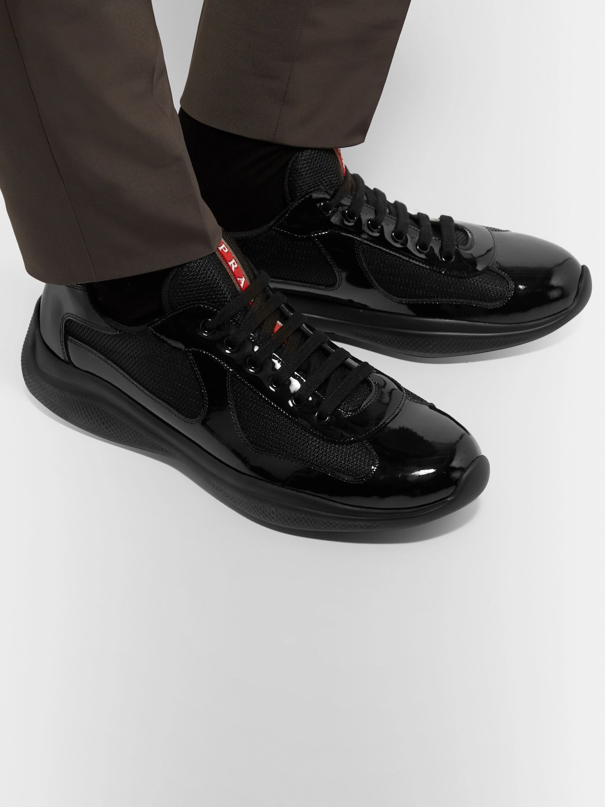 America's Cup Patent Leather and Mesh Sneakers