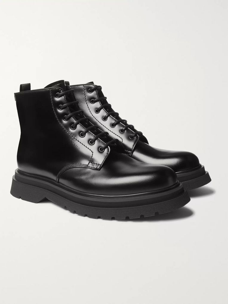 Prada Spazzolato Leather Boots