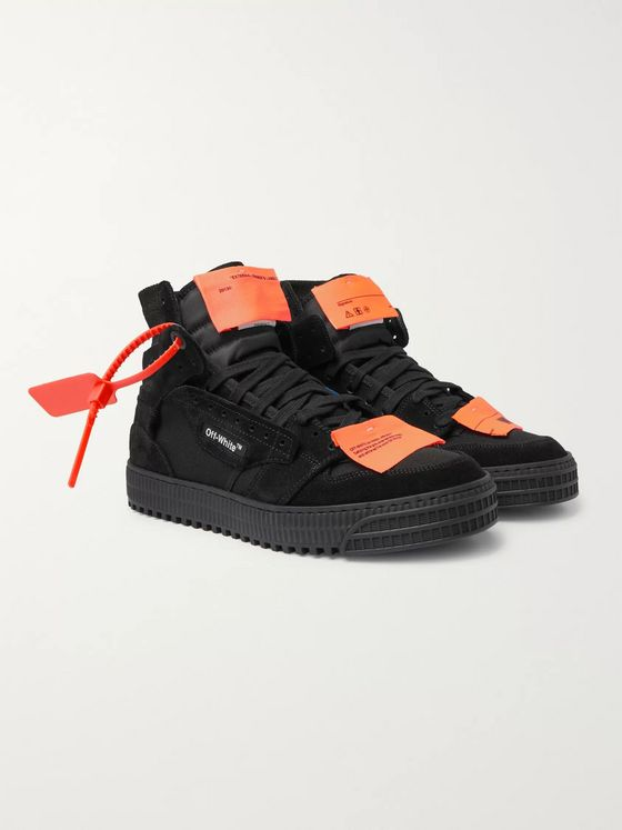 Off-White Off-Court 3.0 Suede, Leather and Canvas High-Top Sneakers