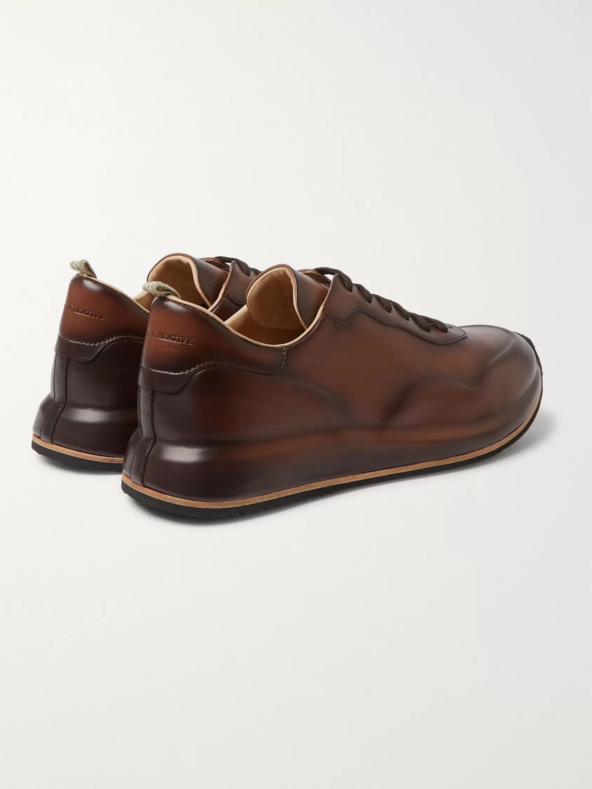 Officine Creative Race Lux Burnished-Leather Sneakers