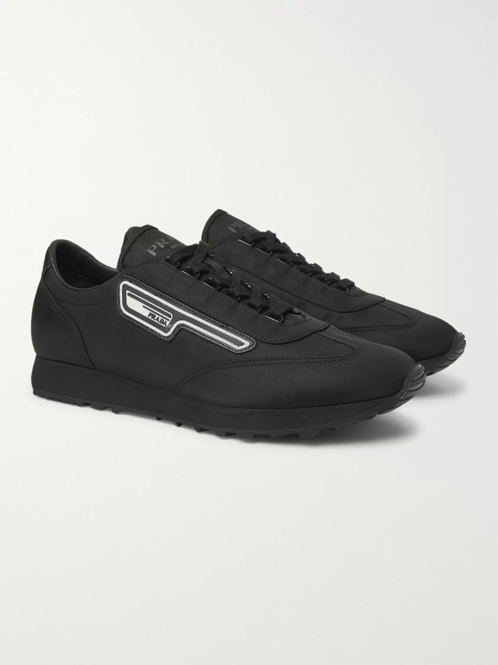 Milano 70 Rubber Trimmed Nylon Sneakers by Prada