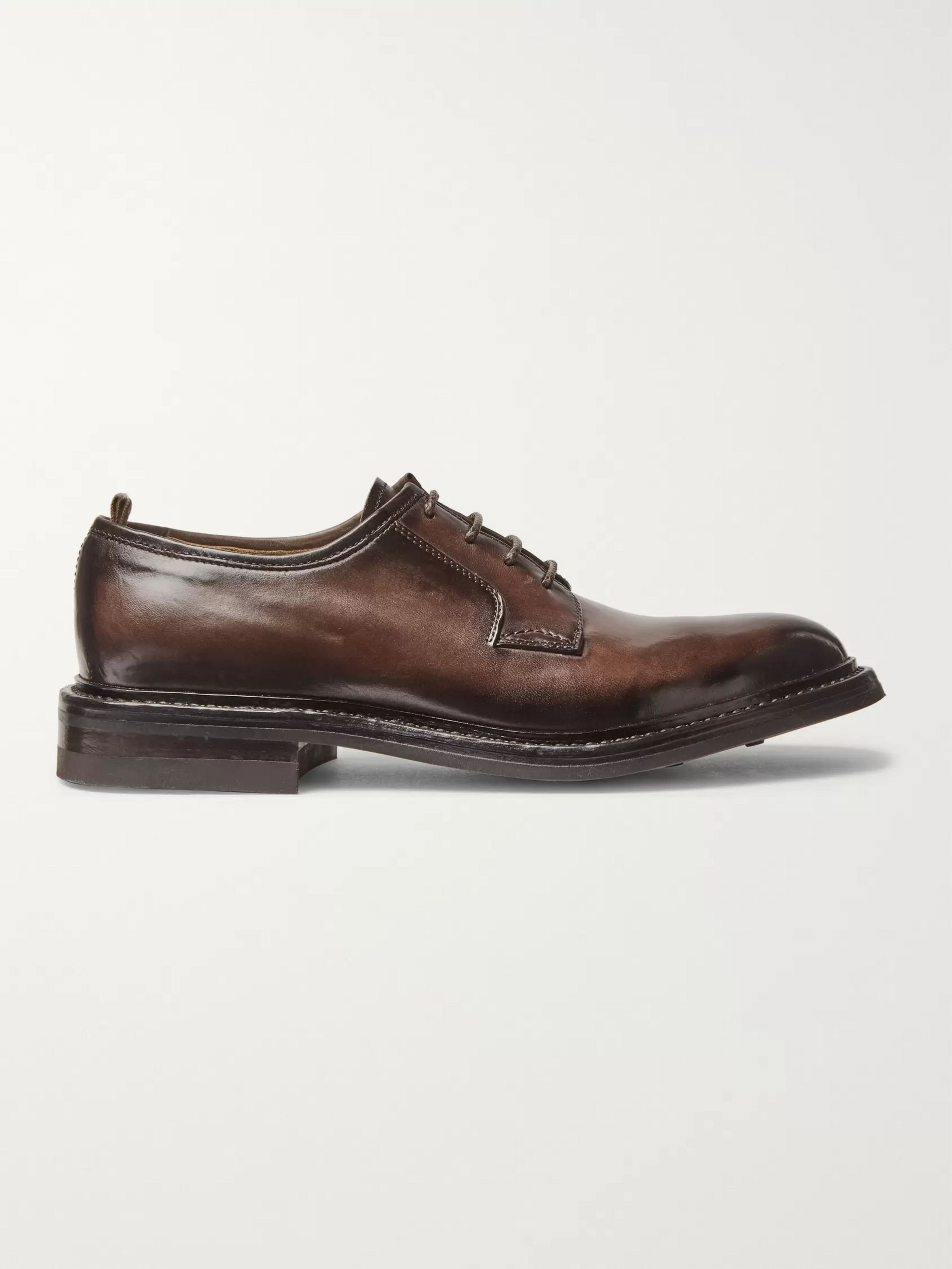 Officine Creative Leeds Polished-Leather Derby Shoes