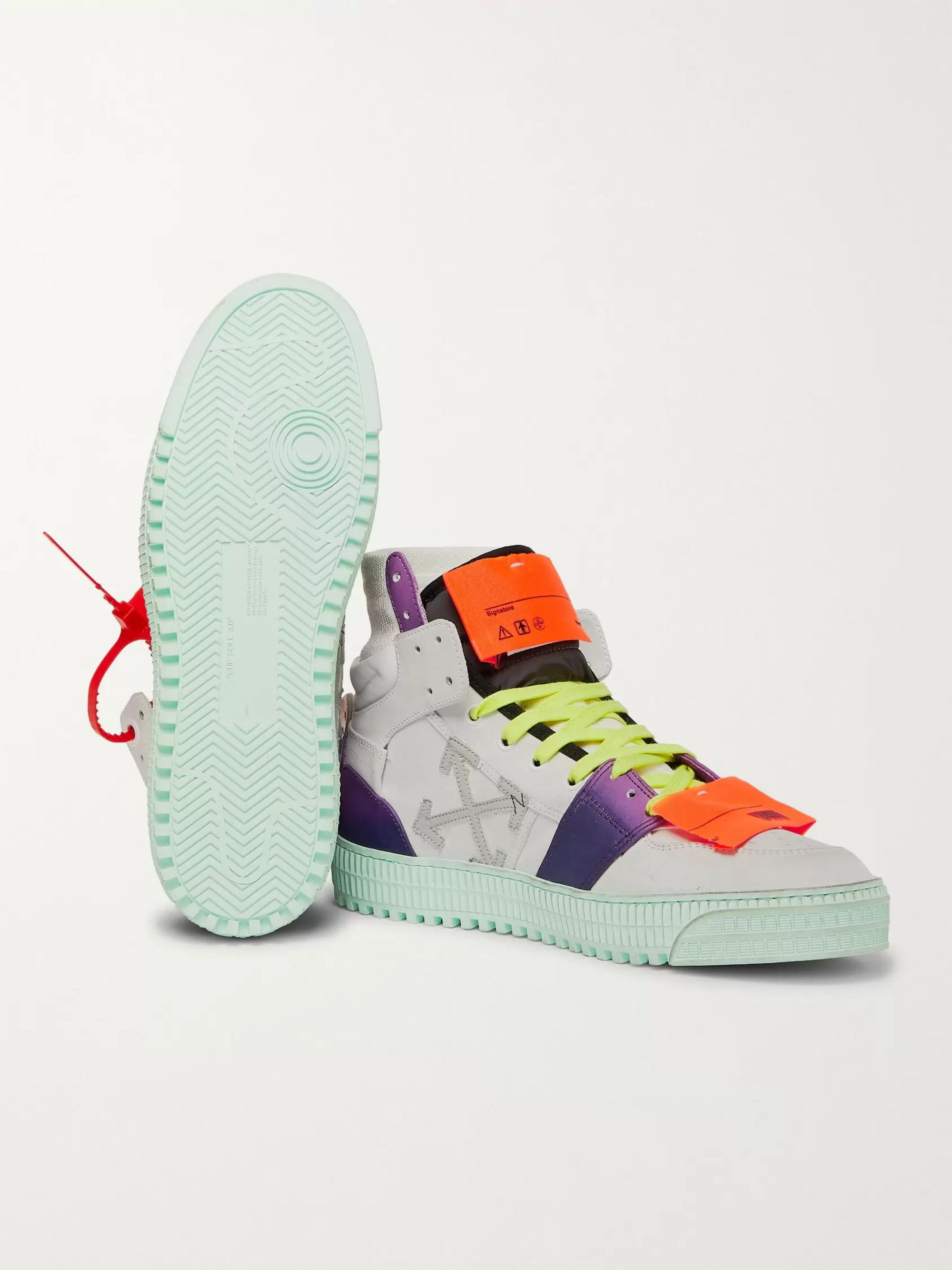 Off-White Off-Court Nubuck, Leather and Canvas Sneakers
