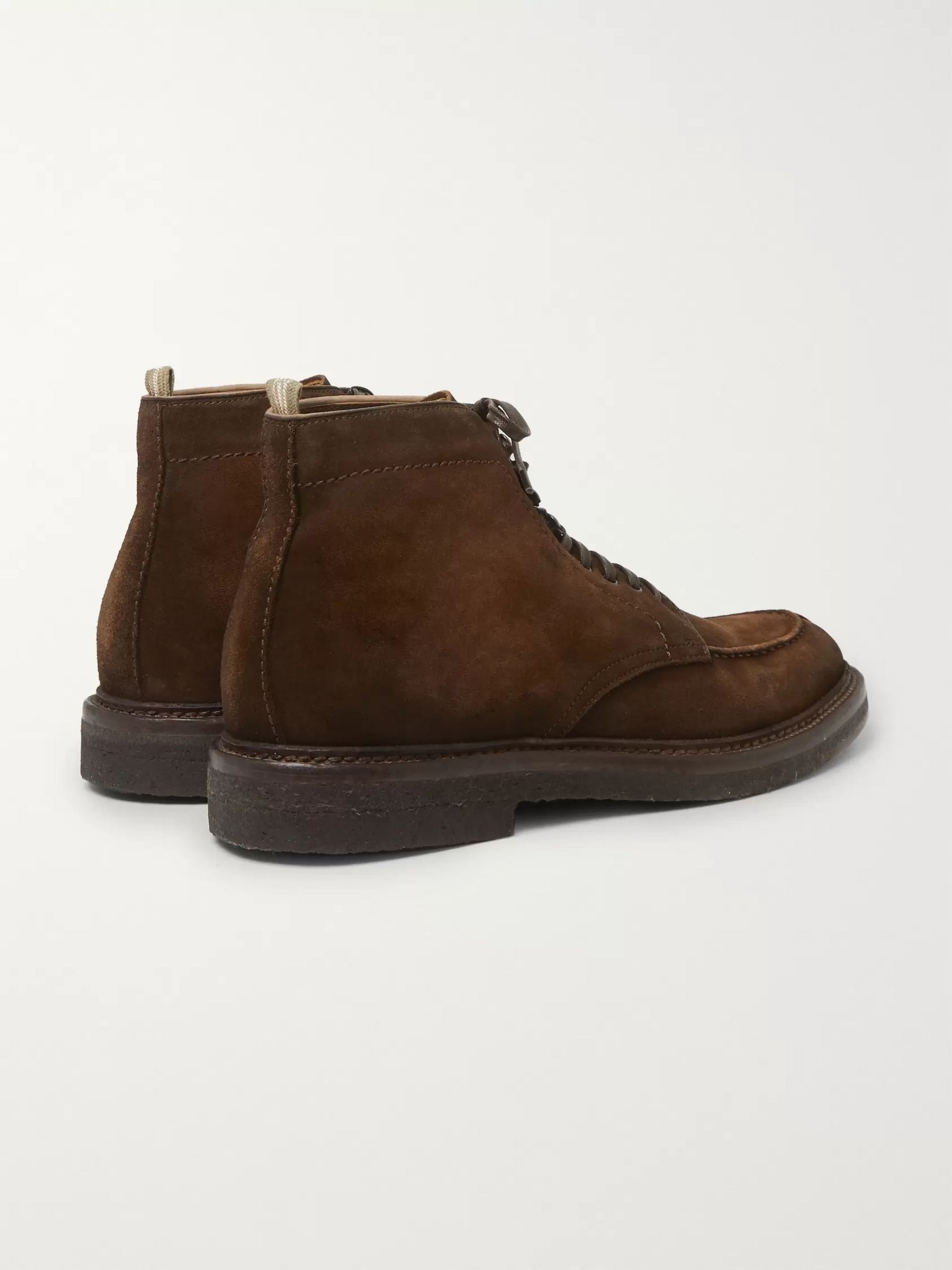 Officine Creative Stanford Burnished-Suede Boots