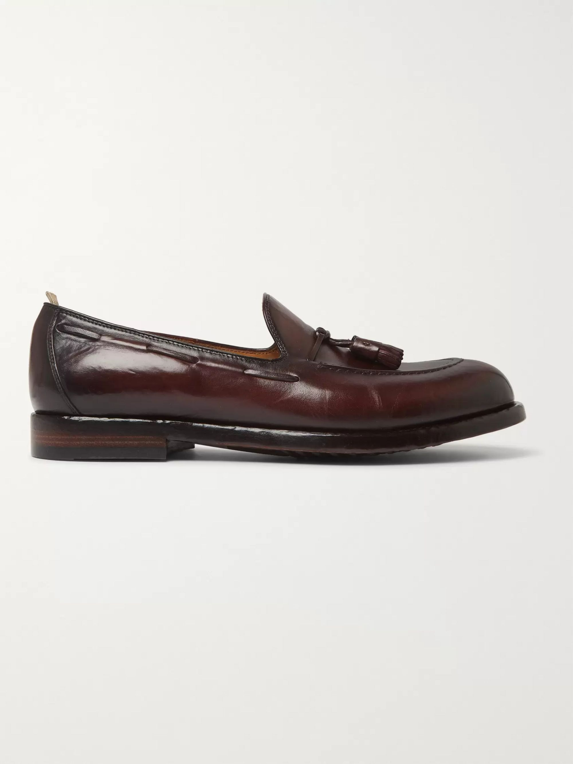 Officine Creative Ivy Burnished-Leather Tasselled Loafers