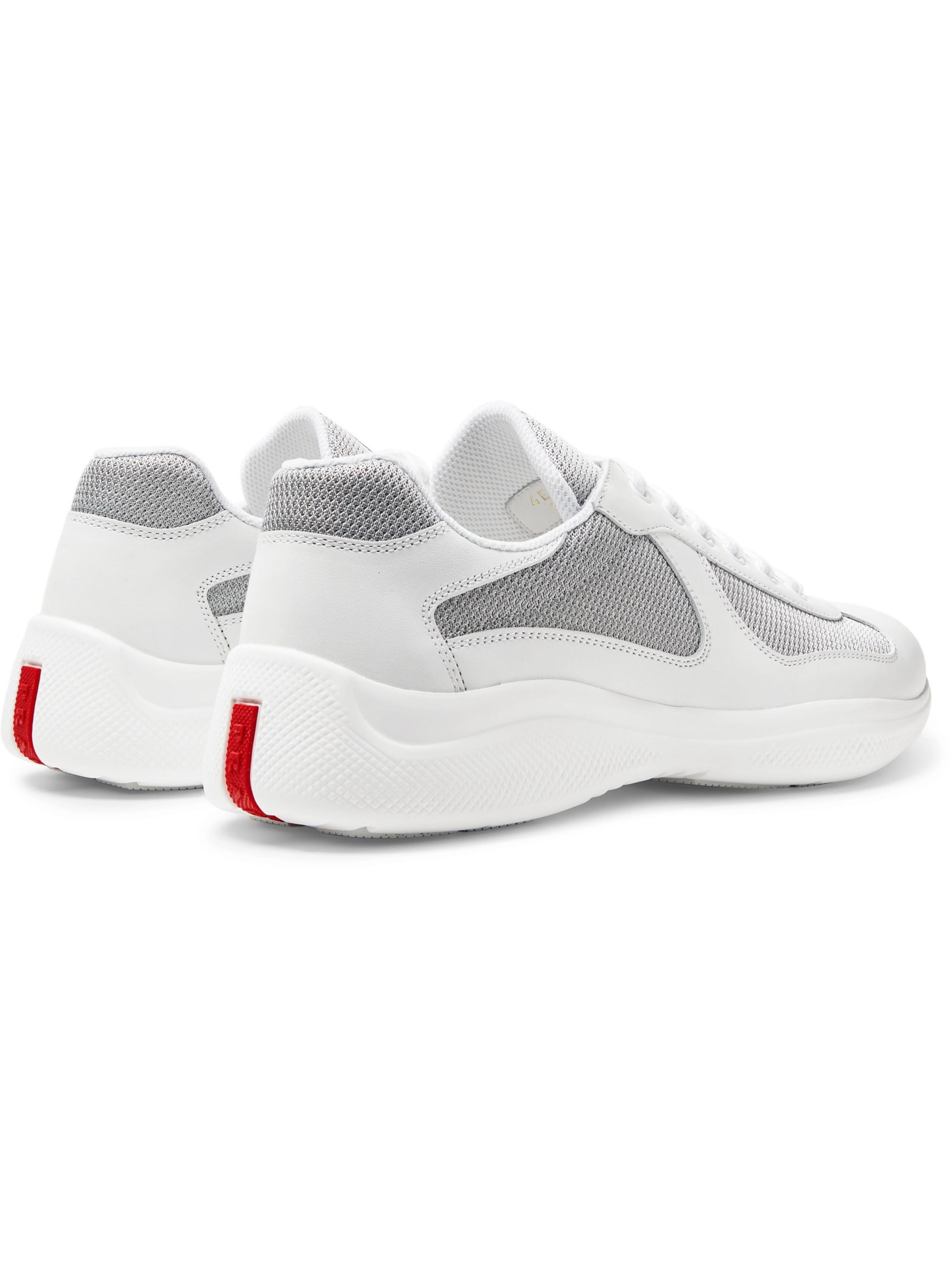 Prada America's Cup Leather and Mesh Sneakers