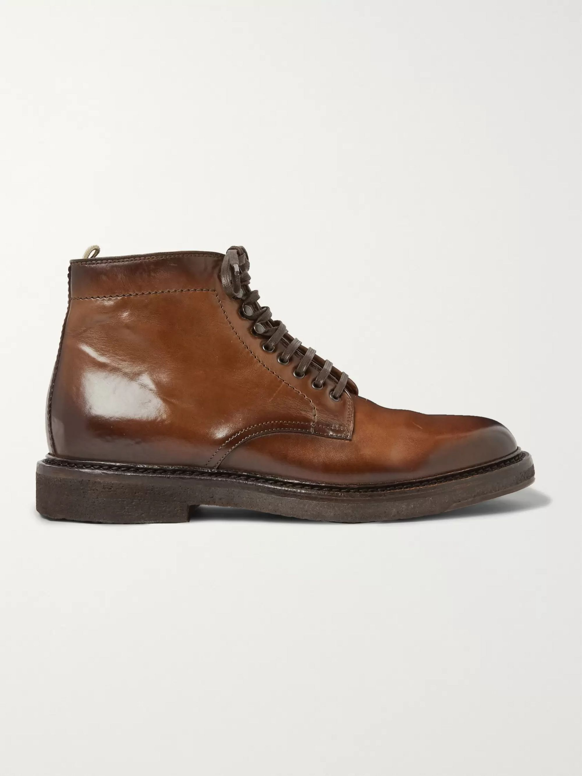 Officine Creative Stanford Burnished-Leather Boot