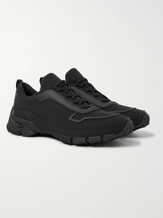 Prada Cross Action Rubber-Trimmed Nylon Sneakers